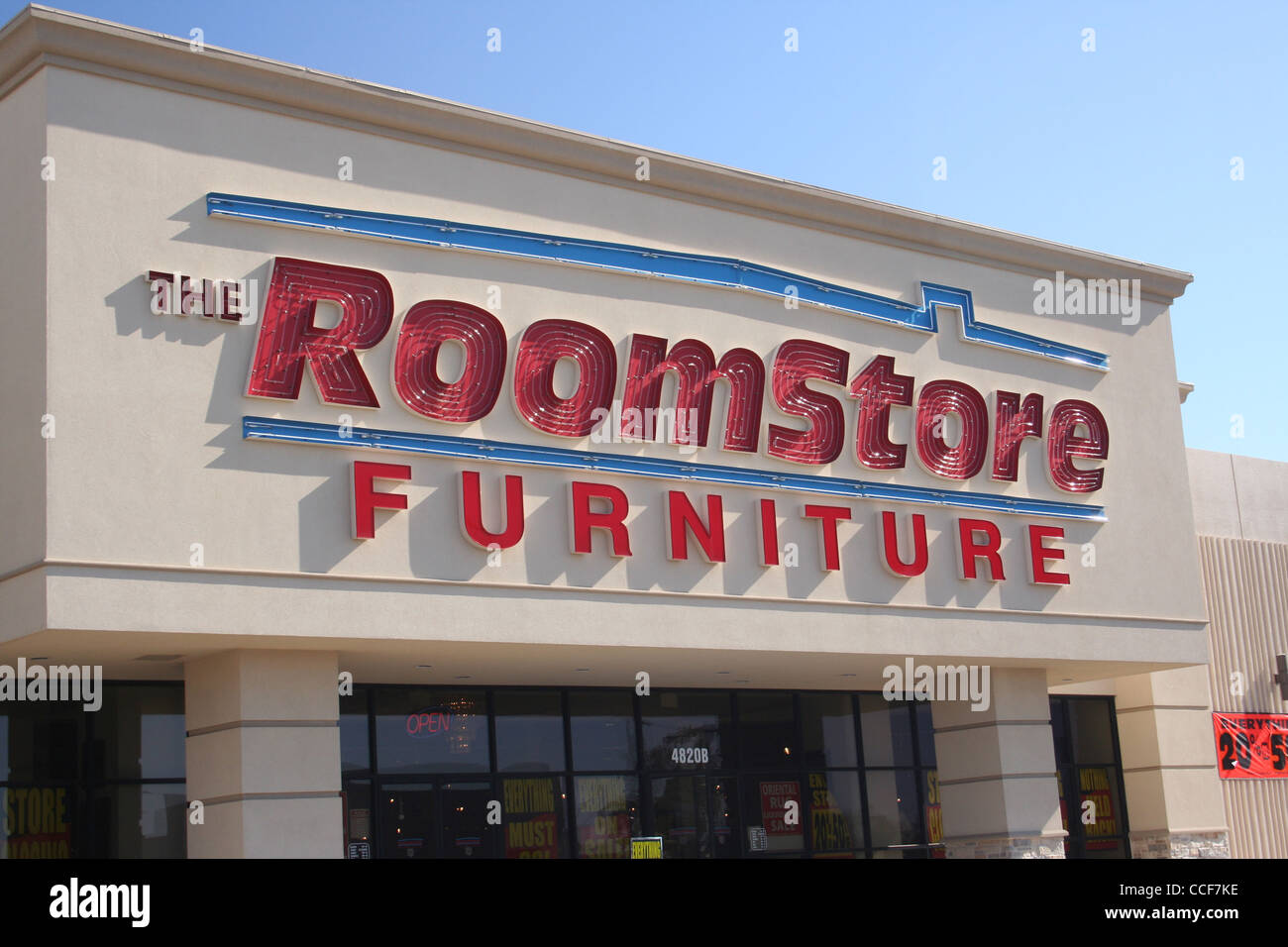 stock photo the roomstore furniture store closing sale tyler tx january