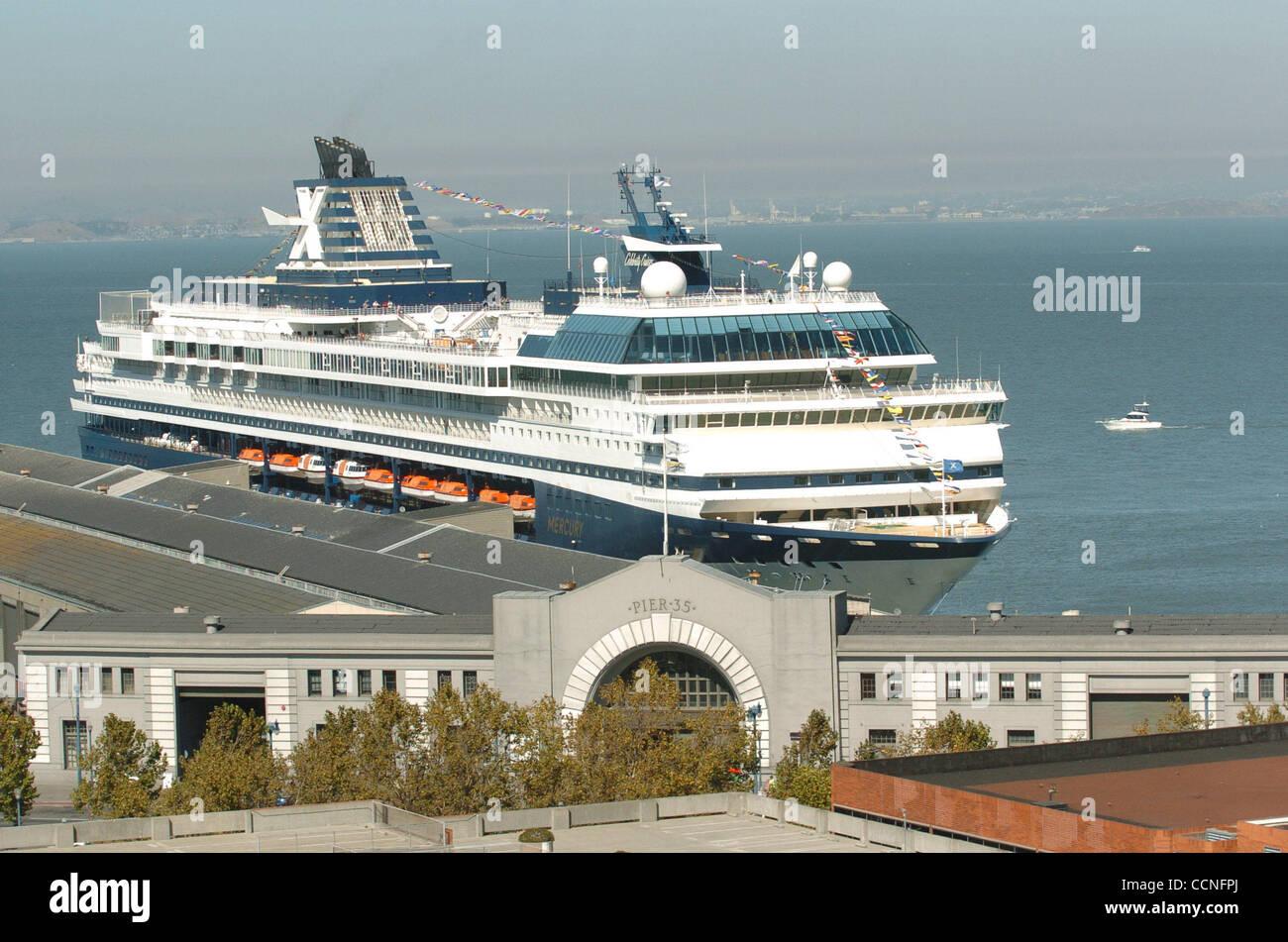 The Cruise Ship Mercury Prepares To Debark From San Franciscos - Cruise ships from san francisco