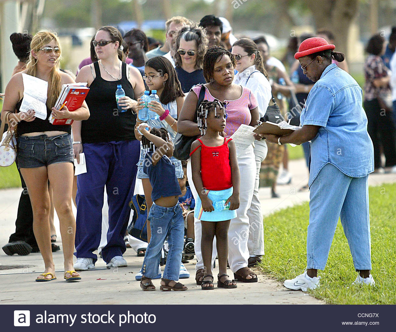 West Palm Beach Christine Winn (far Right With Red Hat), A Dcf Employee How  To Apply For Food Stamp
