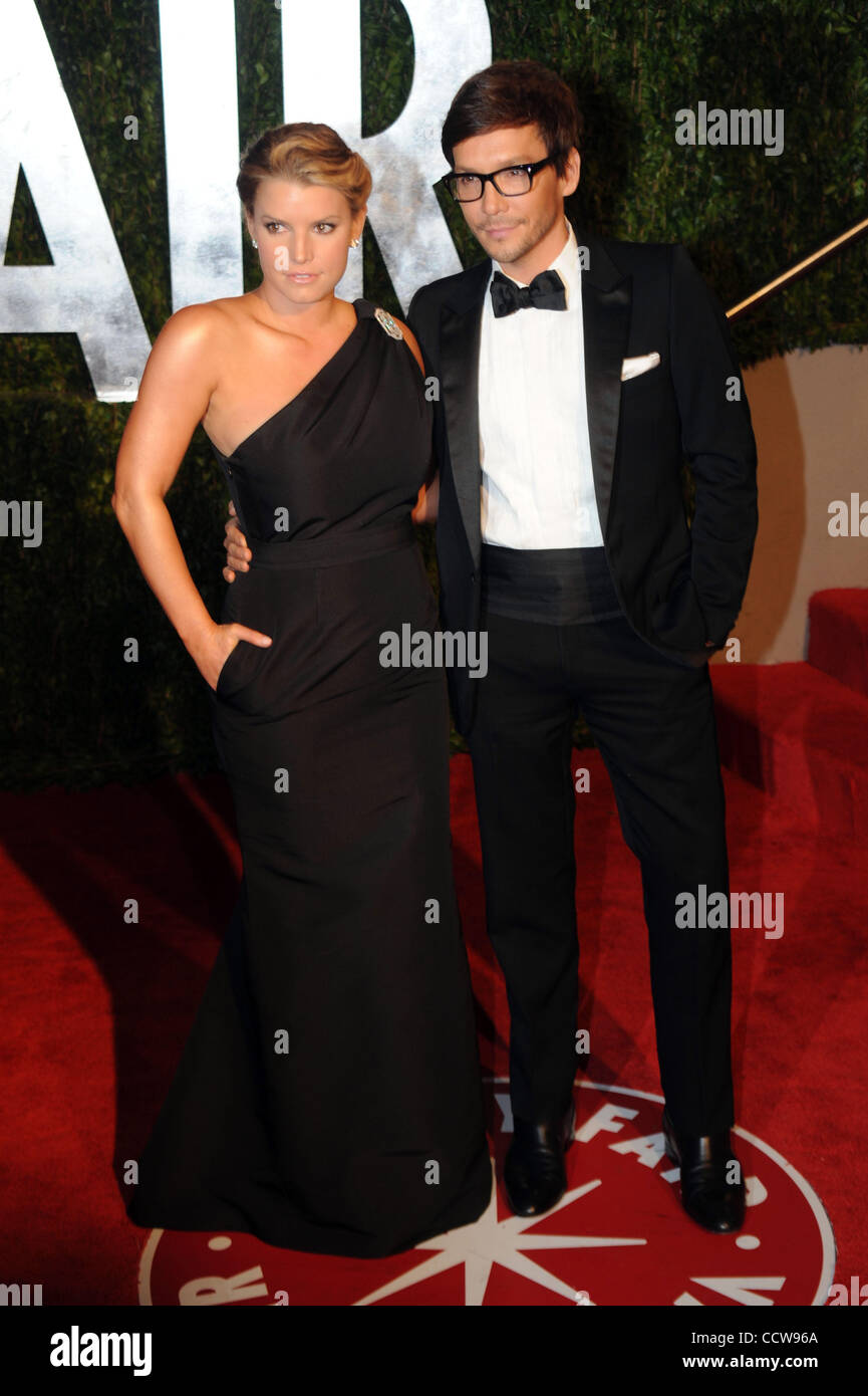 Jessica Simpson And A Unidentified Man Arrive At The Vanity Fair Dinner And  After Party Celebrating The 82nd Academy Awards, Sunday March 7, 2010, ...