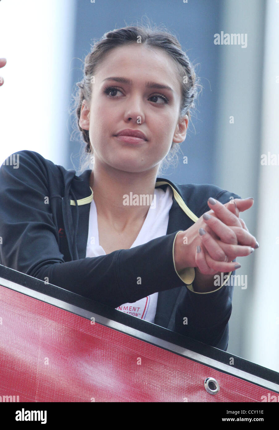 Actress JESSICA ALBA attends the 13th Annual EIF Revlon Run/ Walk ...