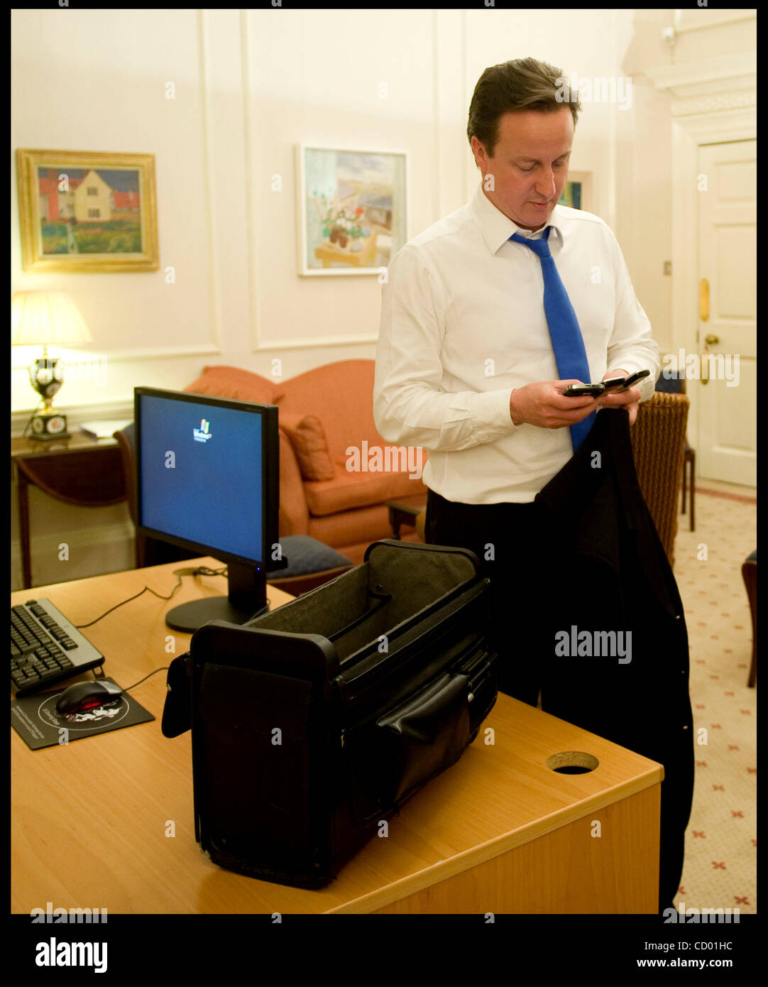 May 12 2010 london uk the prime minister david cameron checks stock photo royalty free - Office of prime minister uk ...