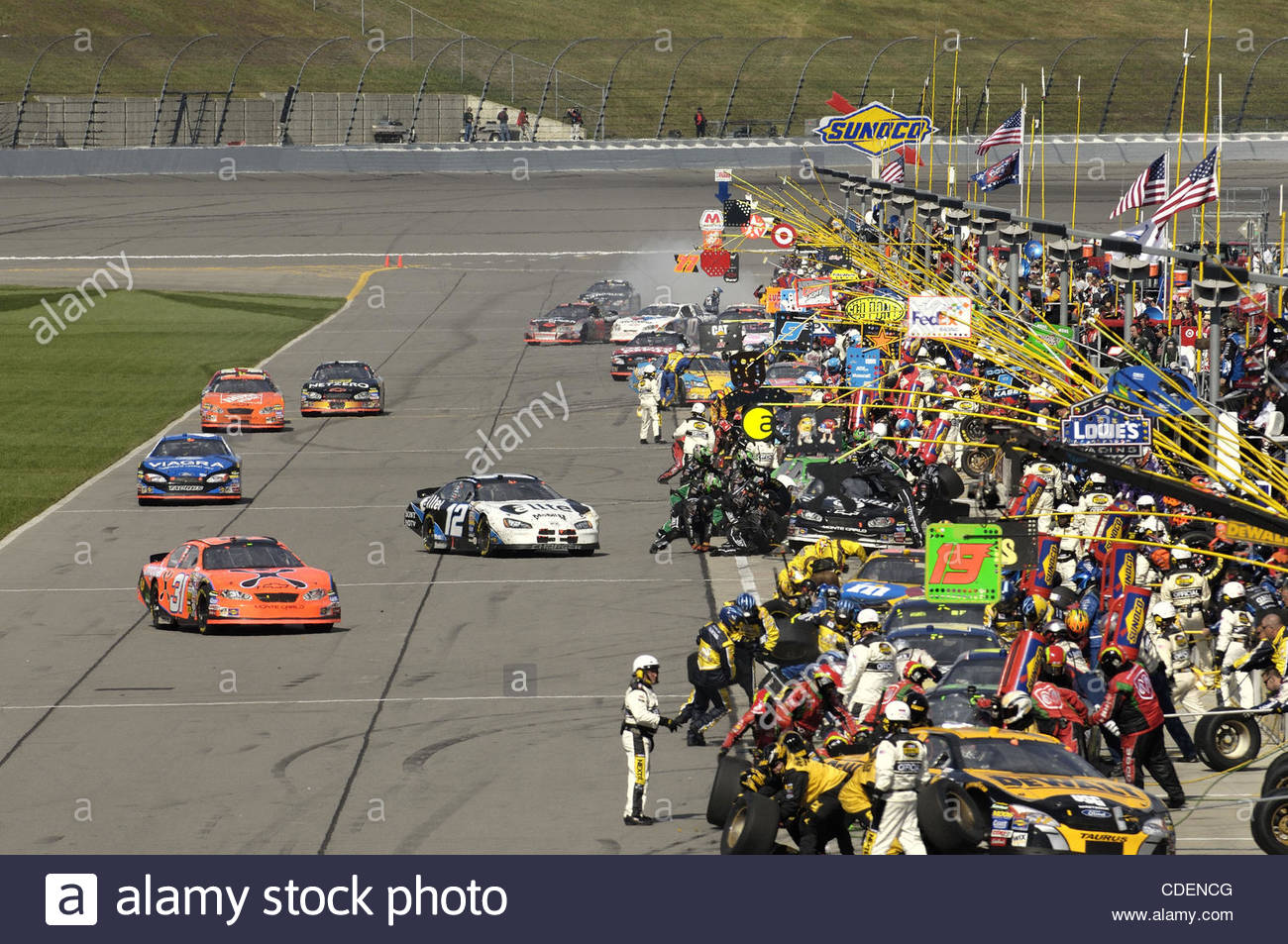 oct 09 2005 kansas city kansas usa auto racing stock photo