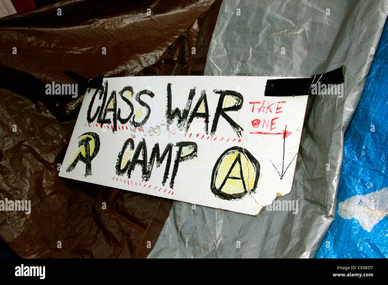The class war campsite displays symbols of communism and anarchism the class war campsite displays symbols of communism and anarchism at occupy wall street in zuccotti park some call it a shanty town and a circus biocorpaavc Image collections