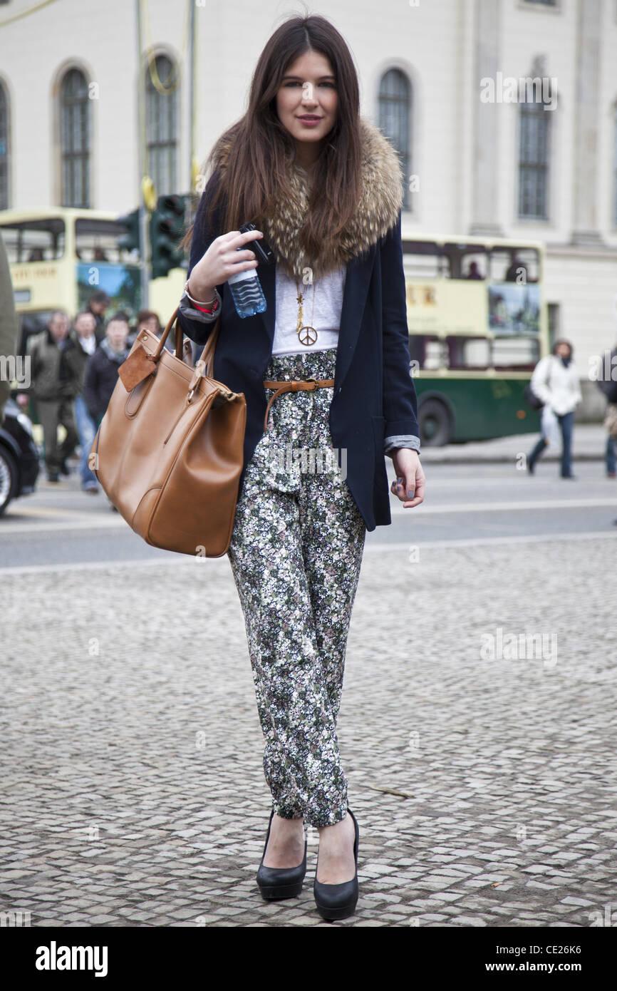 Yulia 19 Street Style At Mercedes Benz Fashion Week