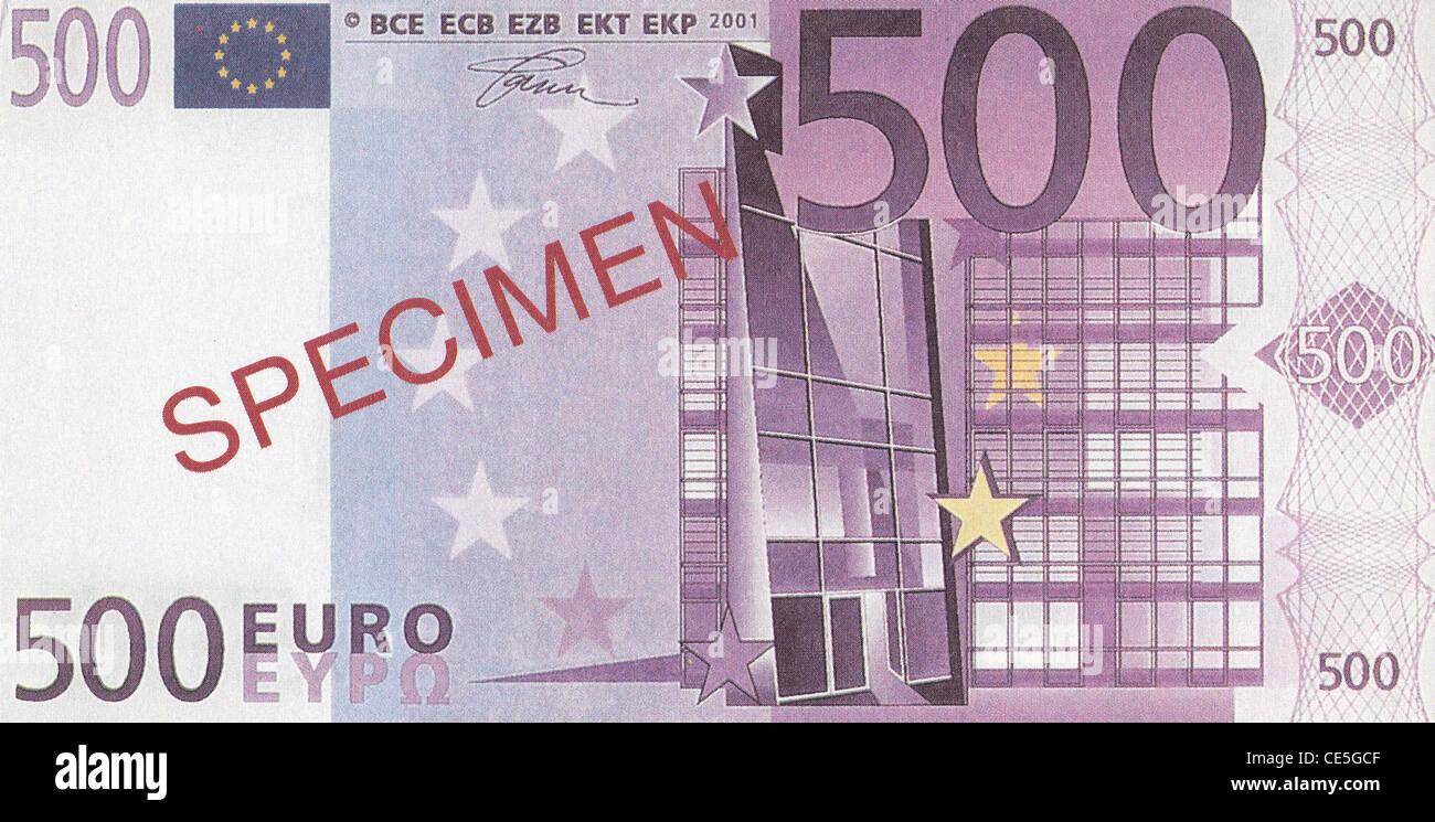 Specimen 500 euro banknote stock photo royalty free image for Wohnlandschaft 500 euro