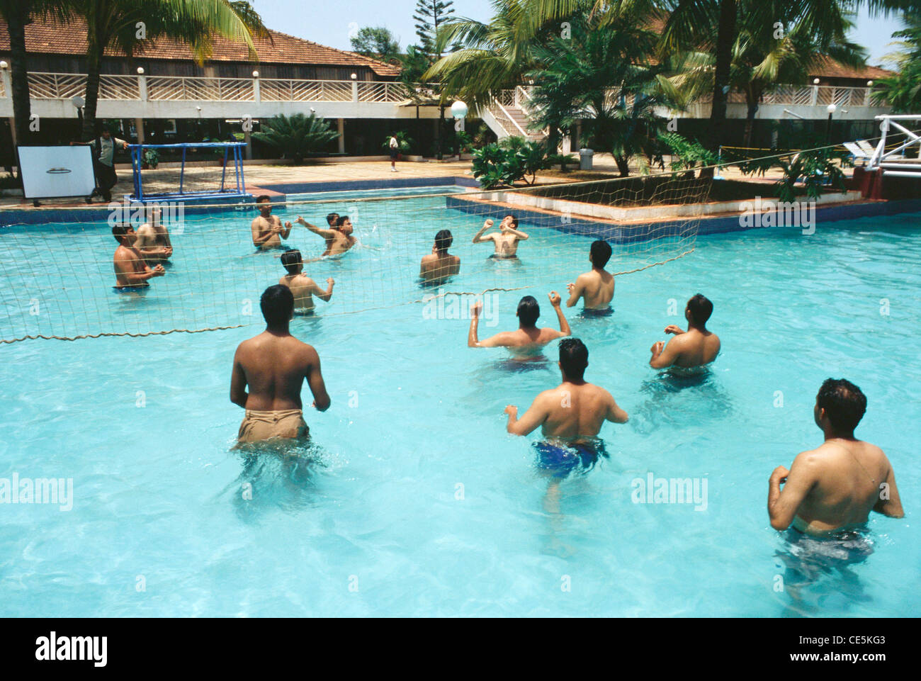Men Playing Volley Ball In Swimming Pool Goa India Stock Photo Royalty Free Image 43151027