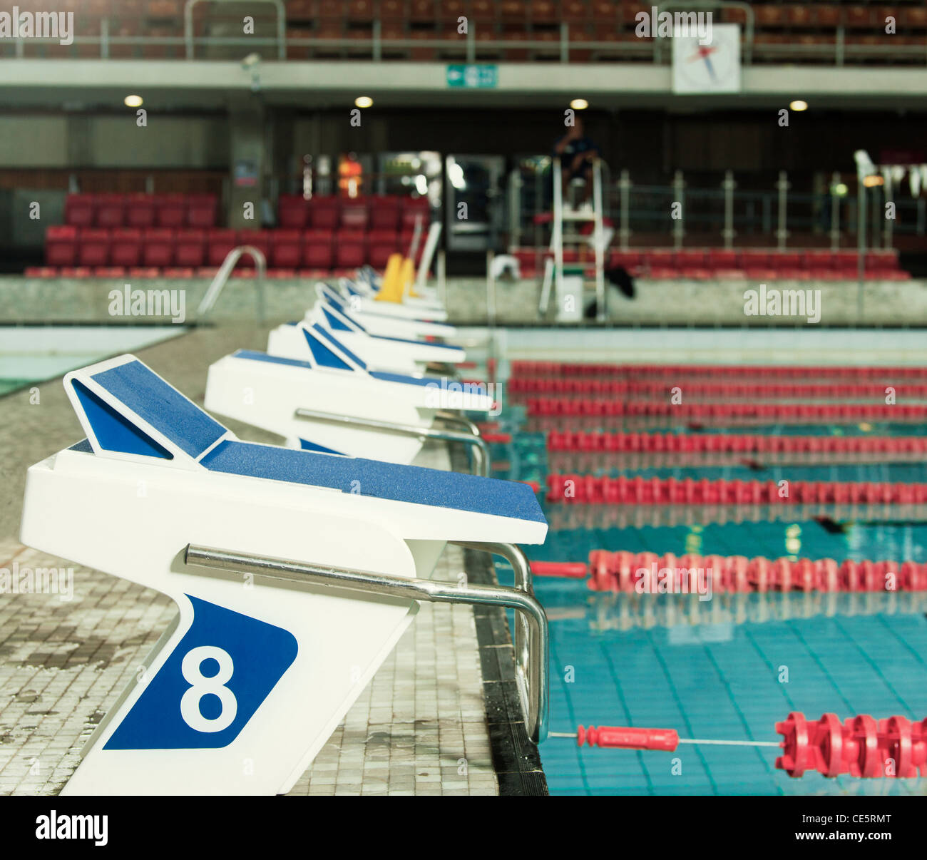 olympic swimming pool starting blocks