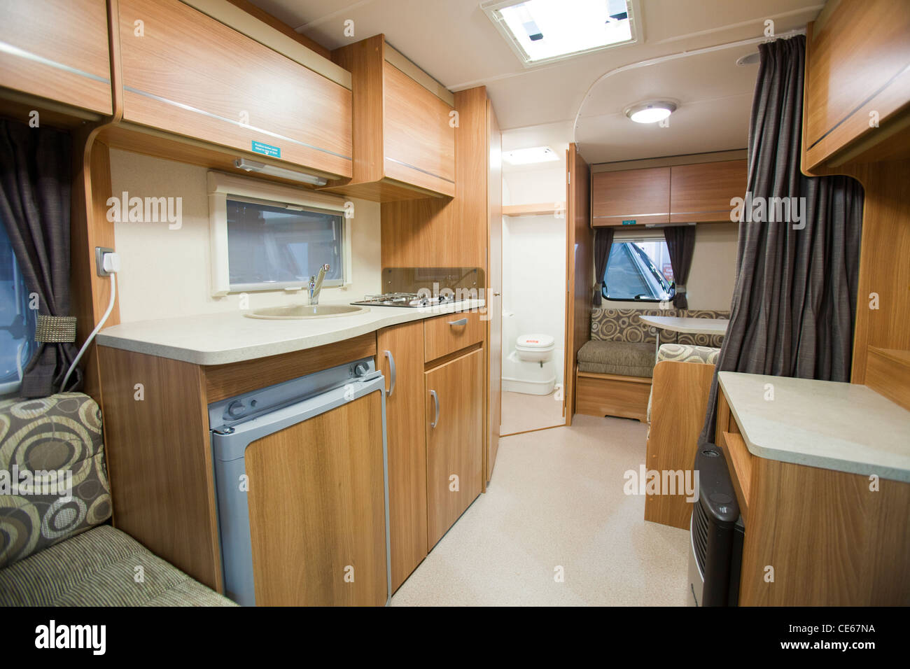 A caravan interior at the caravan and motor home show at for Images of interior