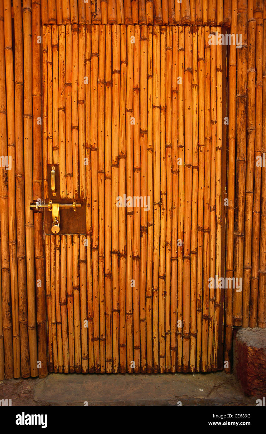 Door U0026 Wall Made From Bamboo ; Tarkarli ; MTDC Holiday Resort ; Malvan ;  Maharashtra ; India