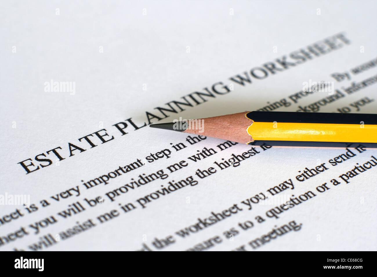 Printables Estate Planning Worksheet estate planning worksheet stock photo royalty free image worksheet