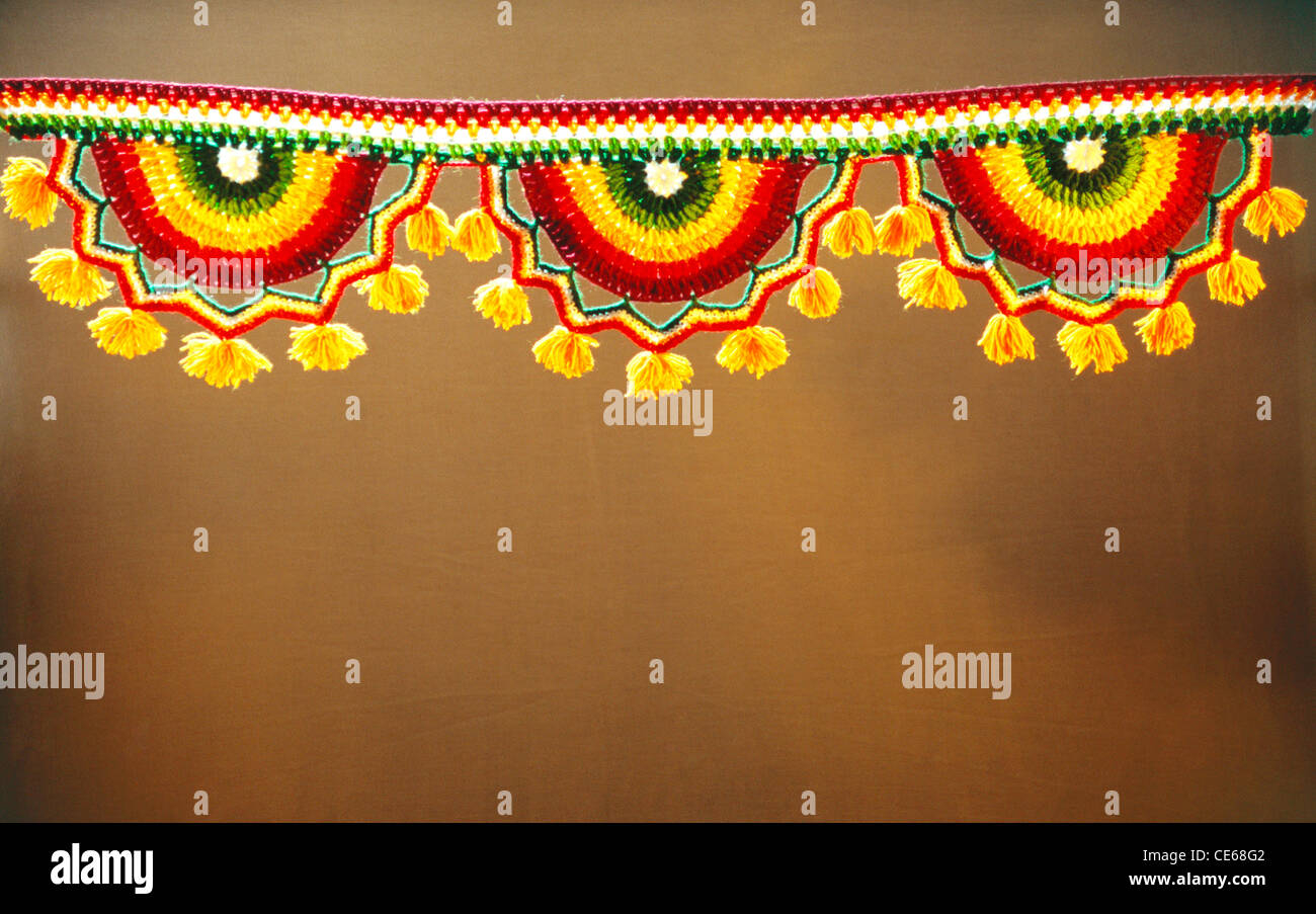Decoration Acrylic Toran Door Curtains Stock Photo, Royalty Free Image ...