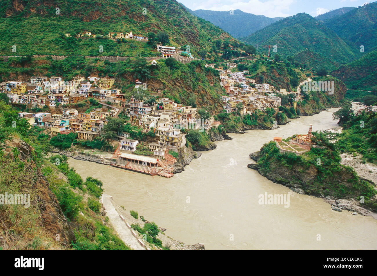place where alaknanda and bhagirathi meet