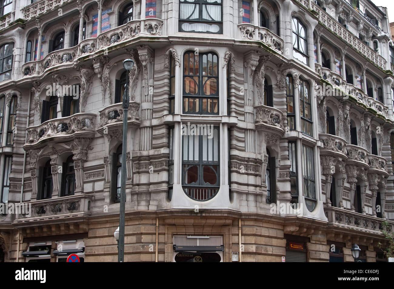 Casa montero art nouveau modernist architecture bilbao basque stock phot - Architecture maison basque ...