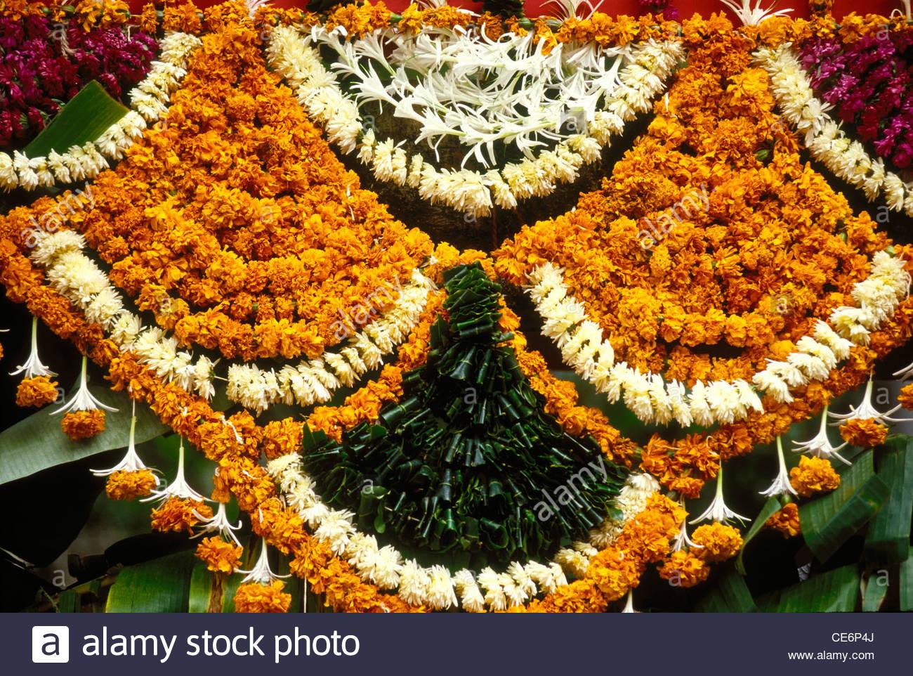 Marigold Orange Flowers Decoration For Entrance Gate Of