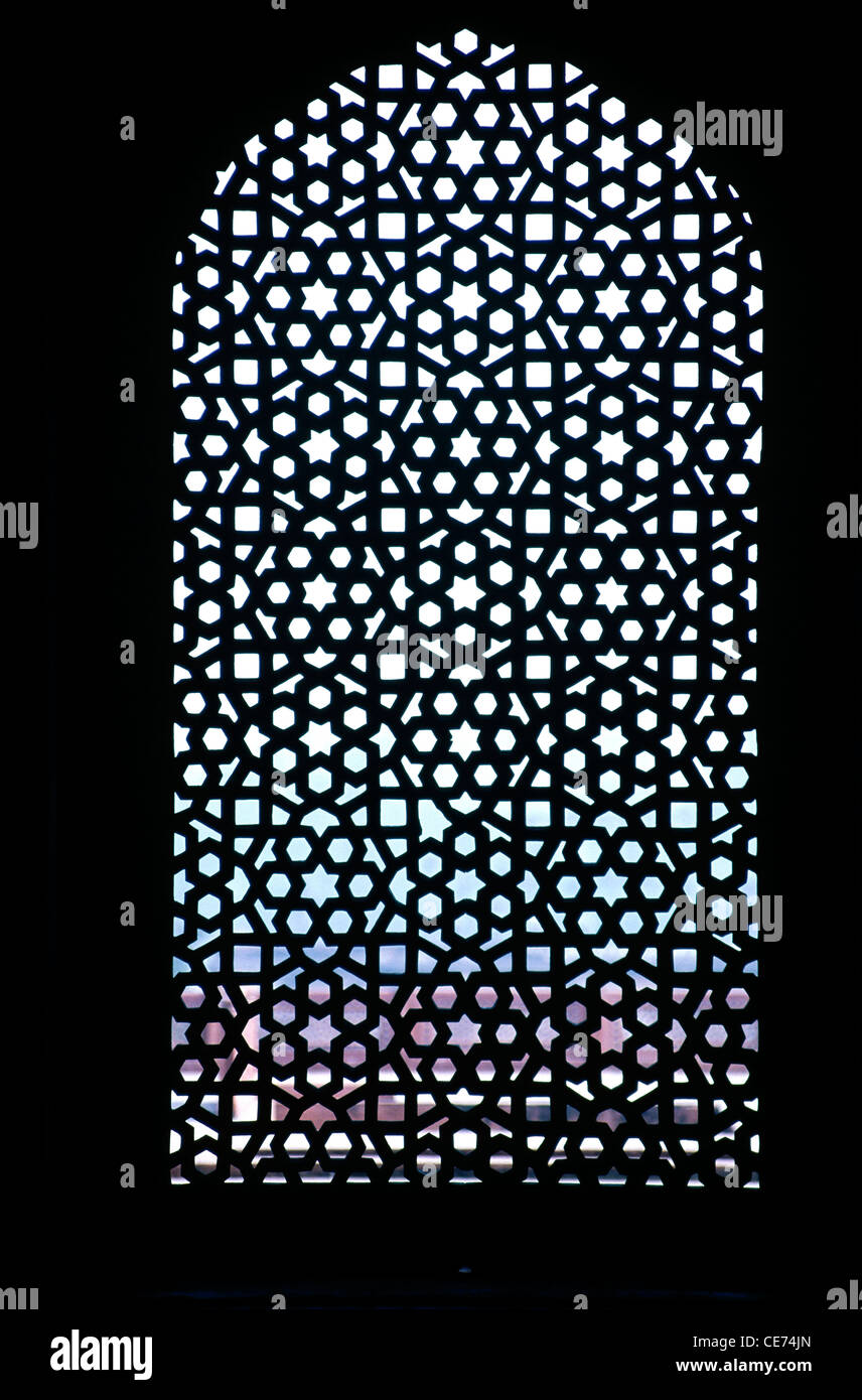 Nmk 82138 stone carved window grill jali in qutub qutb for Window design jali