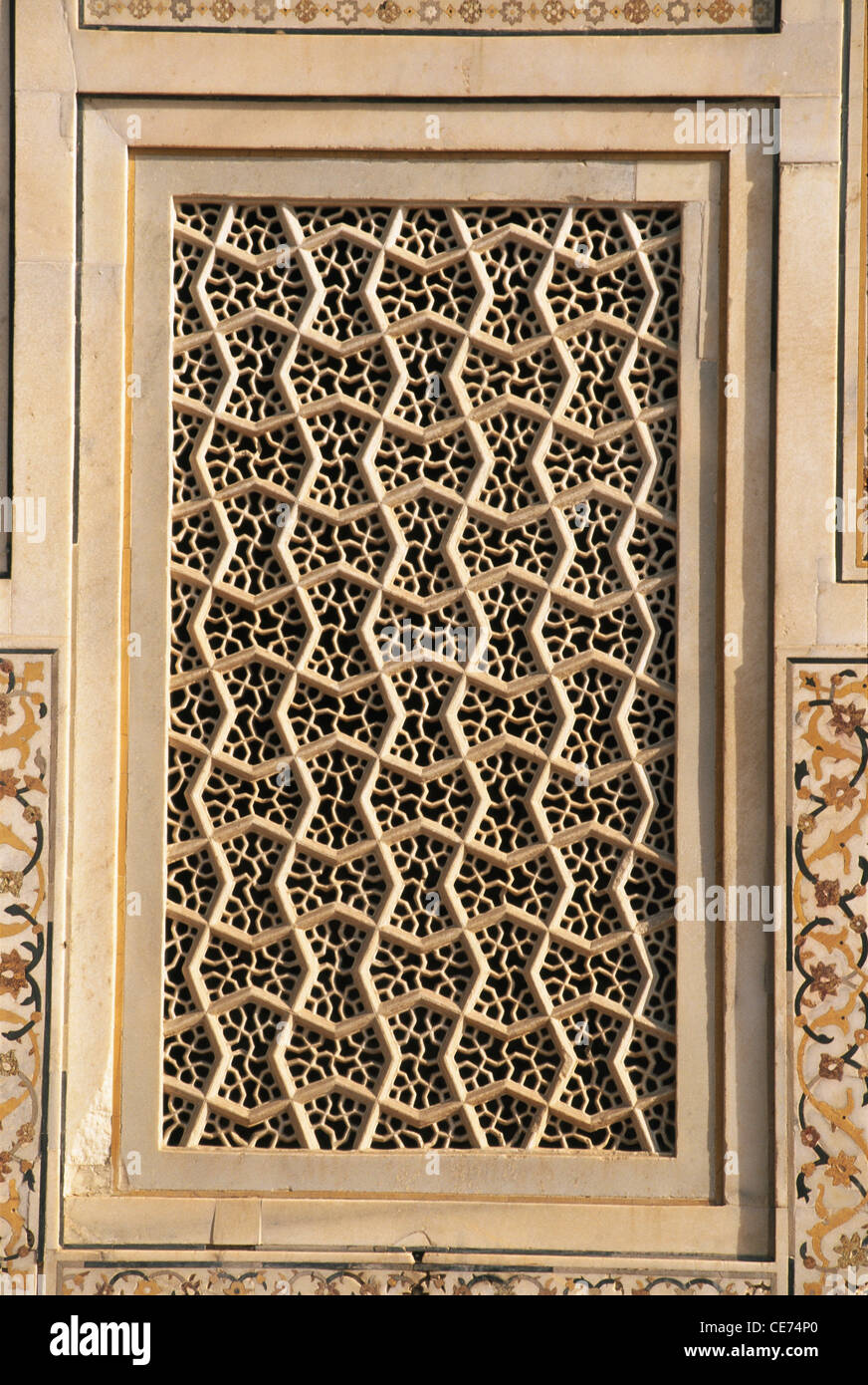 Nmk 82179 delicate carved marble jali window in itmad ud for Window design jali