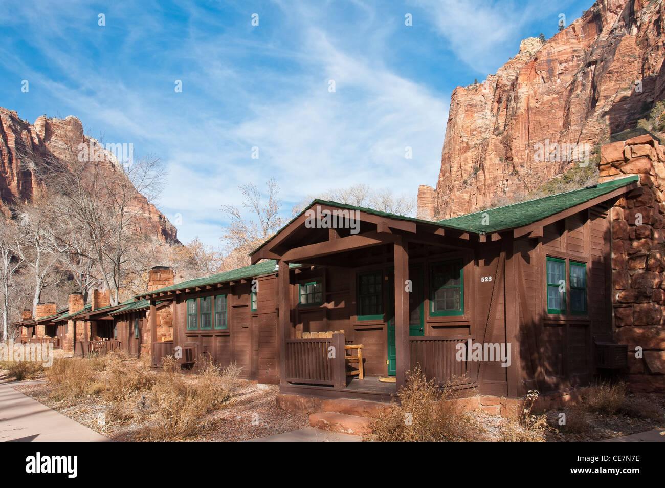 Cabins, Zion Park Lodge, Zion National Park, Utah