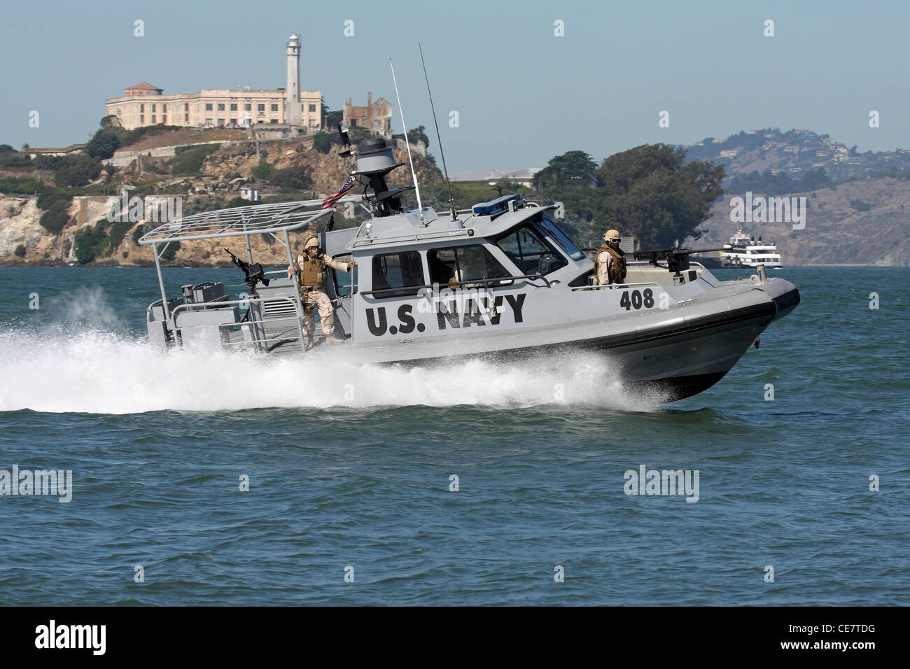 U.s. Navy Security Forces Patrol The San Francisco Waterfront In A ...