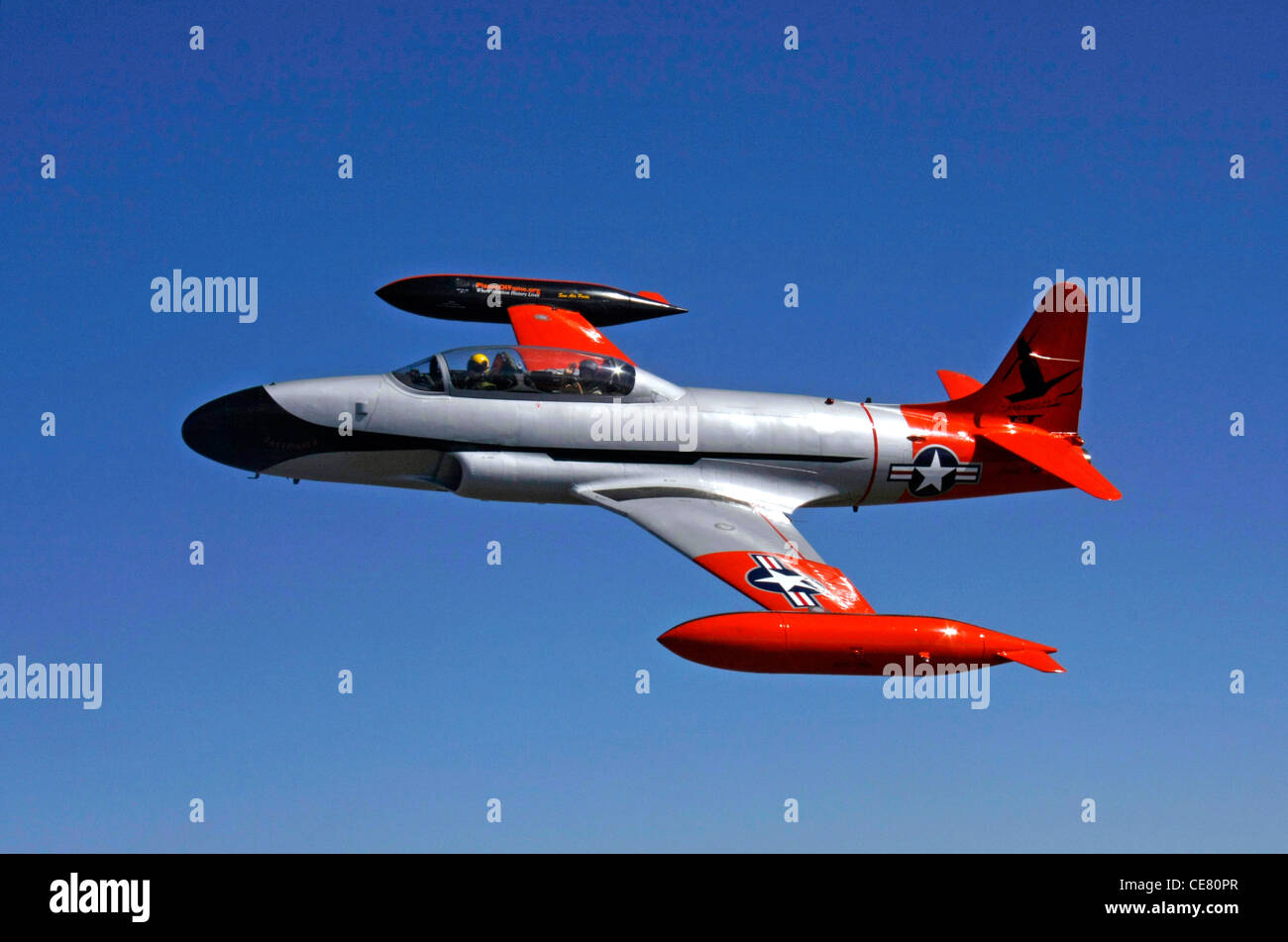 the lockheed t 33 shooting star jet trainer aircraft stock photo royalty free image 43202175. Black Bedroom Furniture Sets. Home Design Ideas