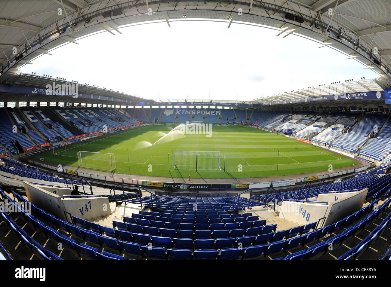 View inside the King Power Stadium (formally known as the ...