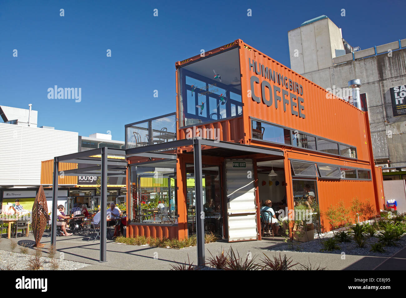 Cafe at re start container mall cashel street for Home ideas centre christchurch
