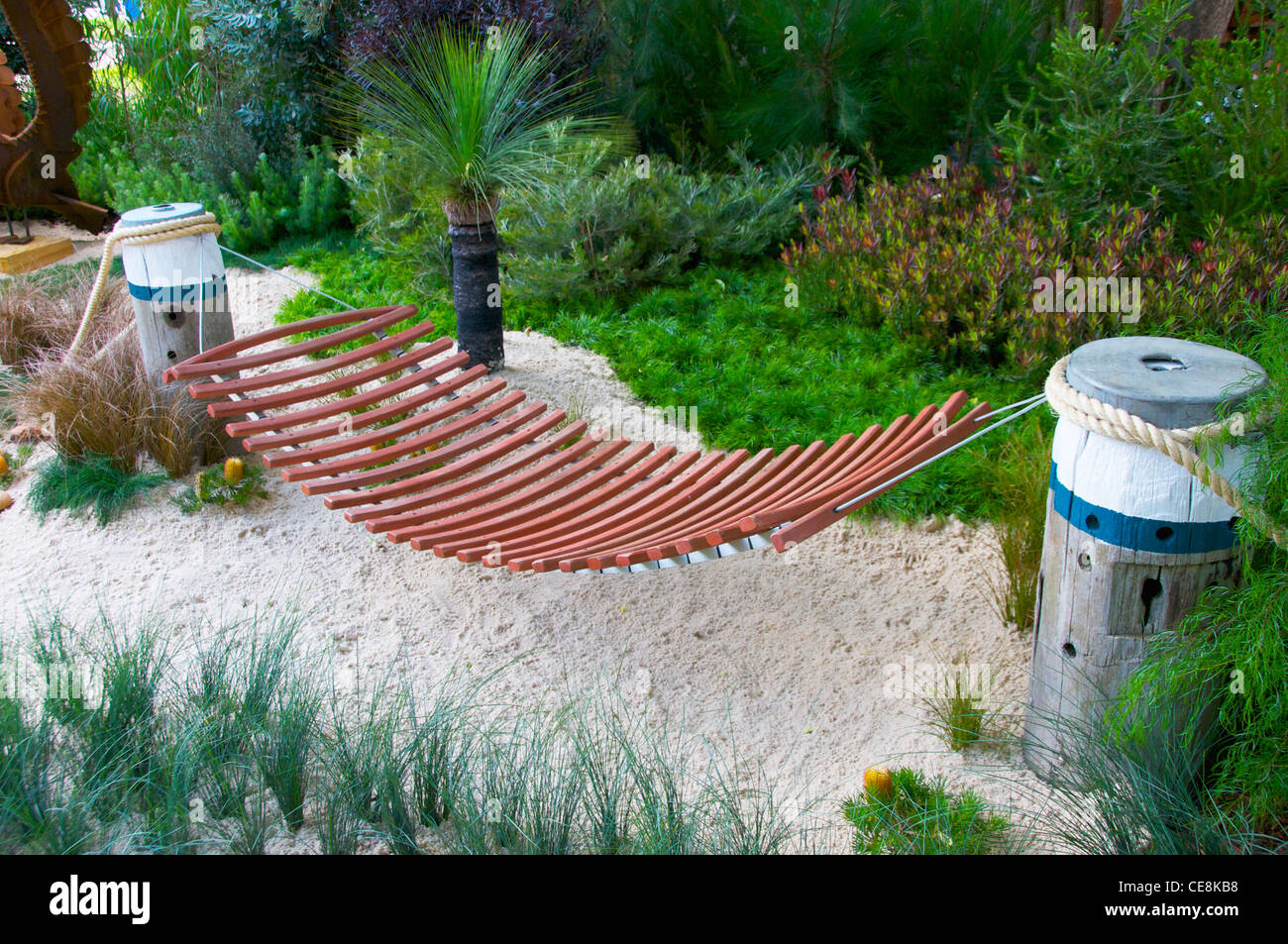 hammock in a coastal garden hammock in a coastal garden stock photo royalty free image      rh   alamy