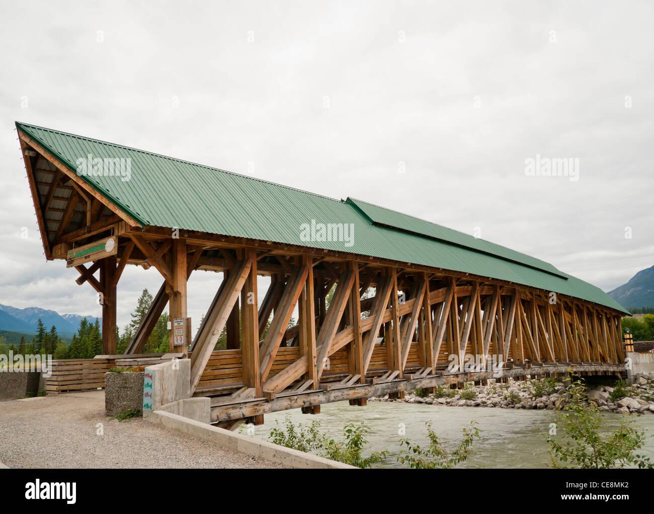Lovely Timber Frame Bridge #9: Kicking Horse Pedestrian Bridge In Golden Is The Longest Authentic Covered Timber  Frame Bridge In Canada