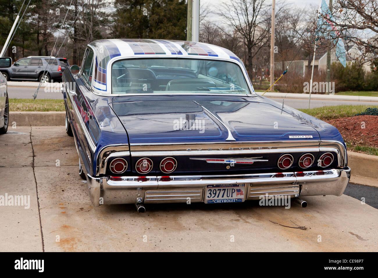 1964 chevy impala lowrider stock image