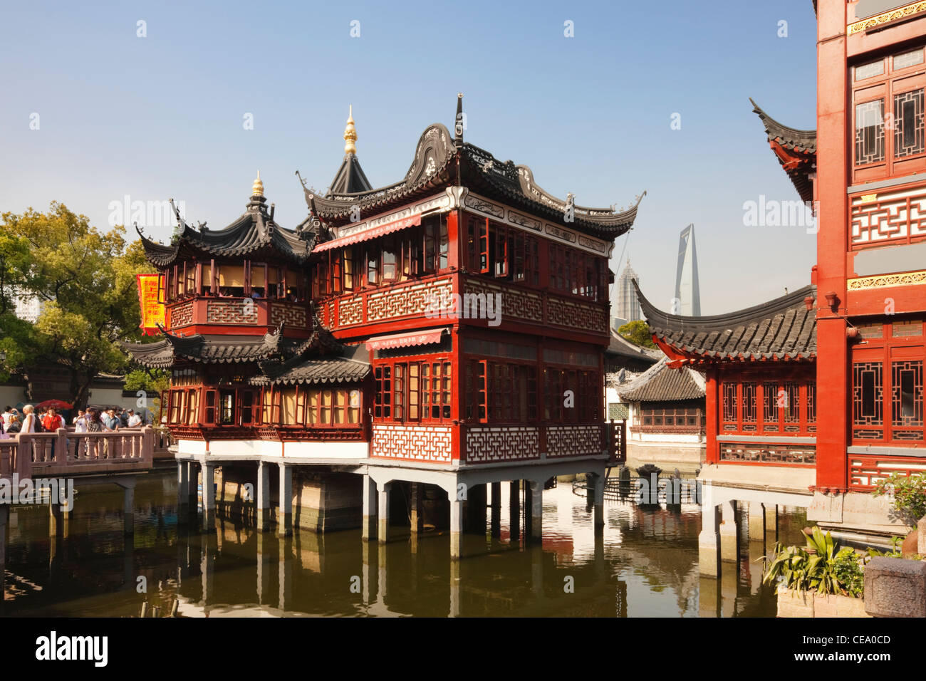 Huxinting Tea House, Yu Gardens Bazaar; Yuyuan; Nanshi; Shanghai; China Idea