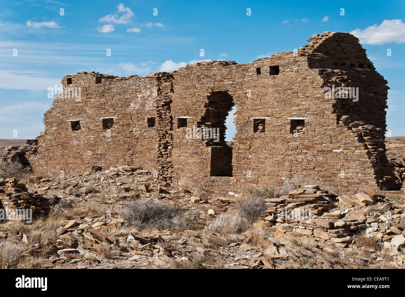 New mexico taos county penasco - Penasco Blanco Chaco Culture National Historical Park New Mexico Stock Image