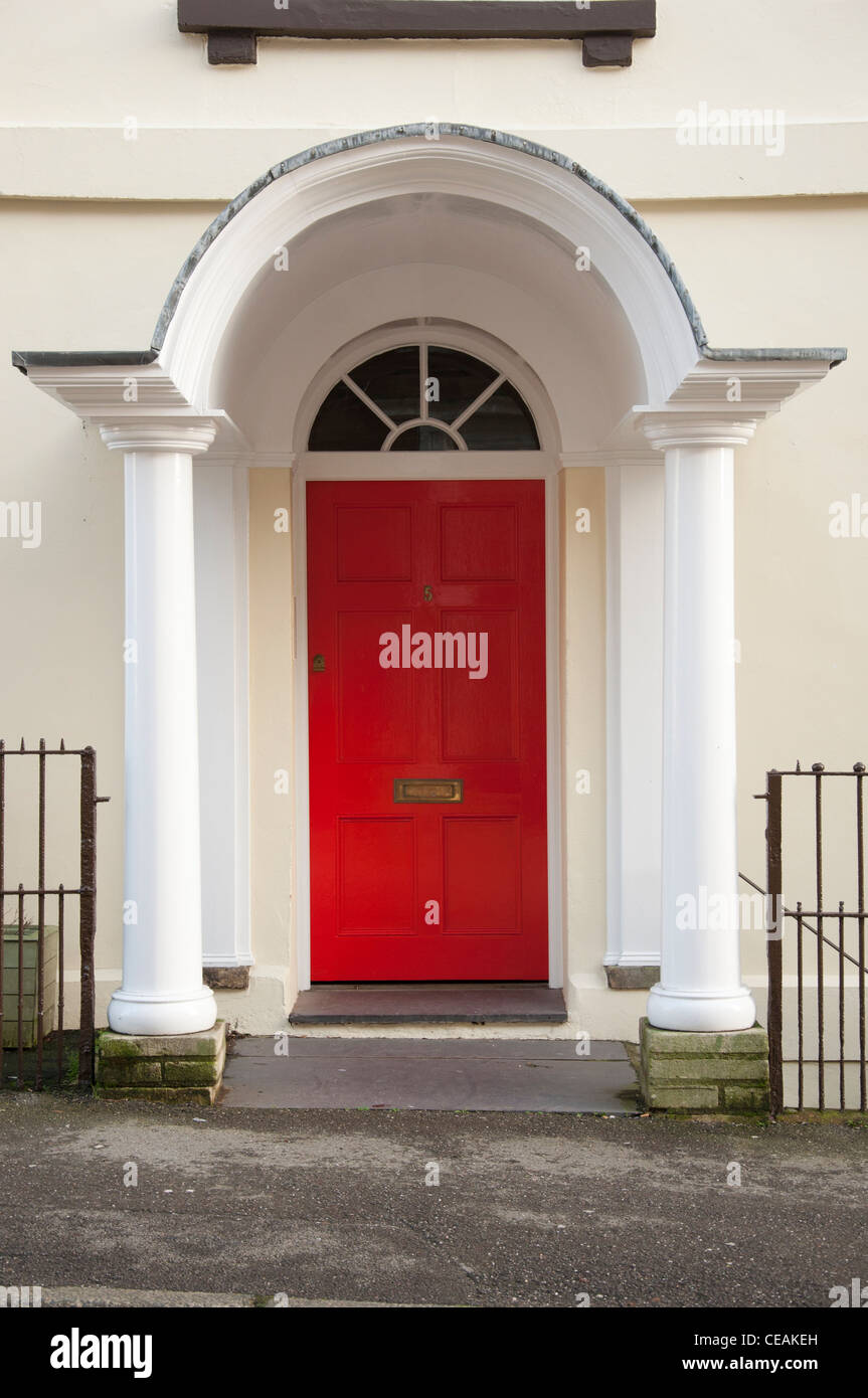 Grand Red Front Door Stock Photo Royalty Free Image