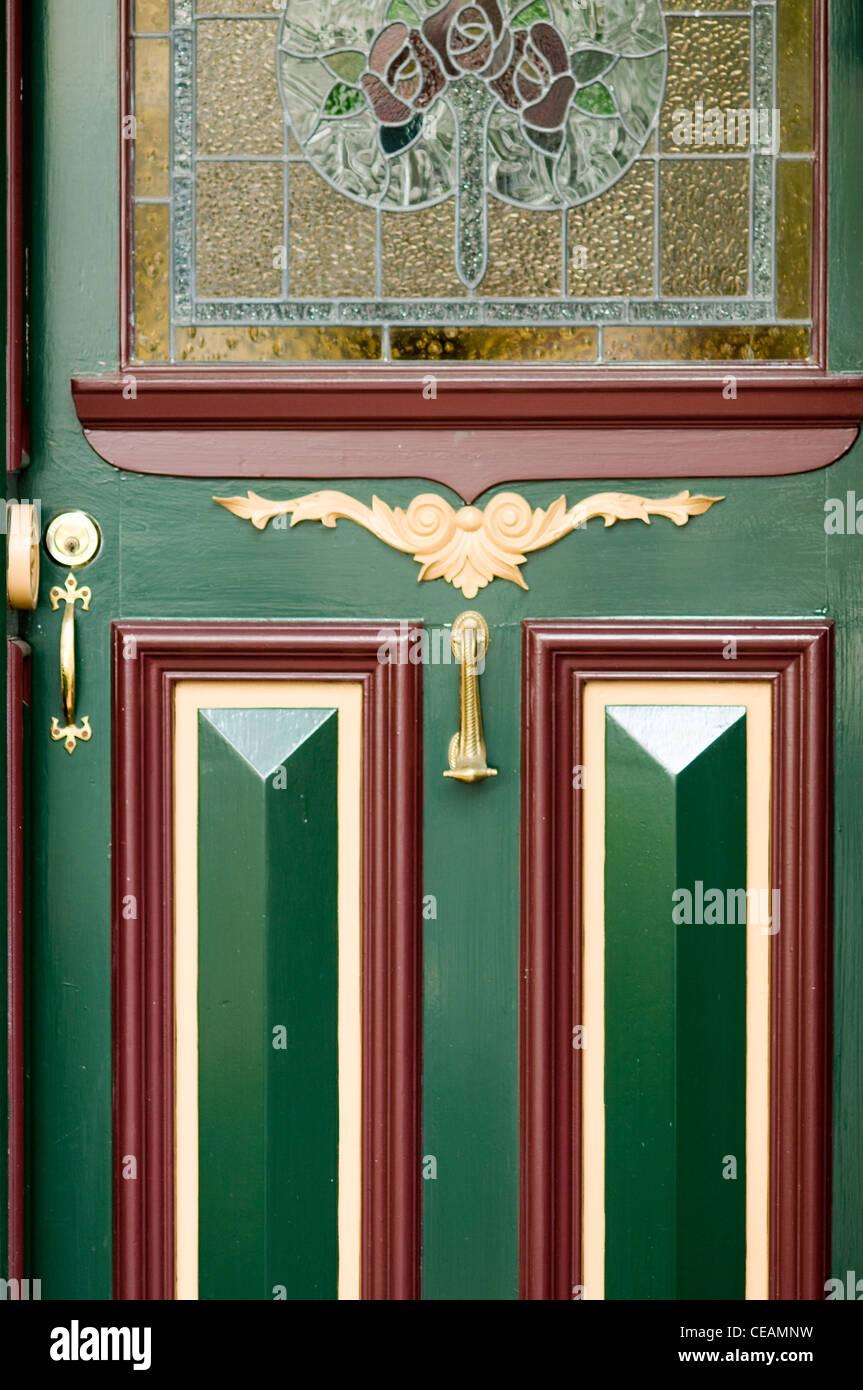 federation style front door fitzroy melbourne victoria australia stock