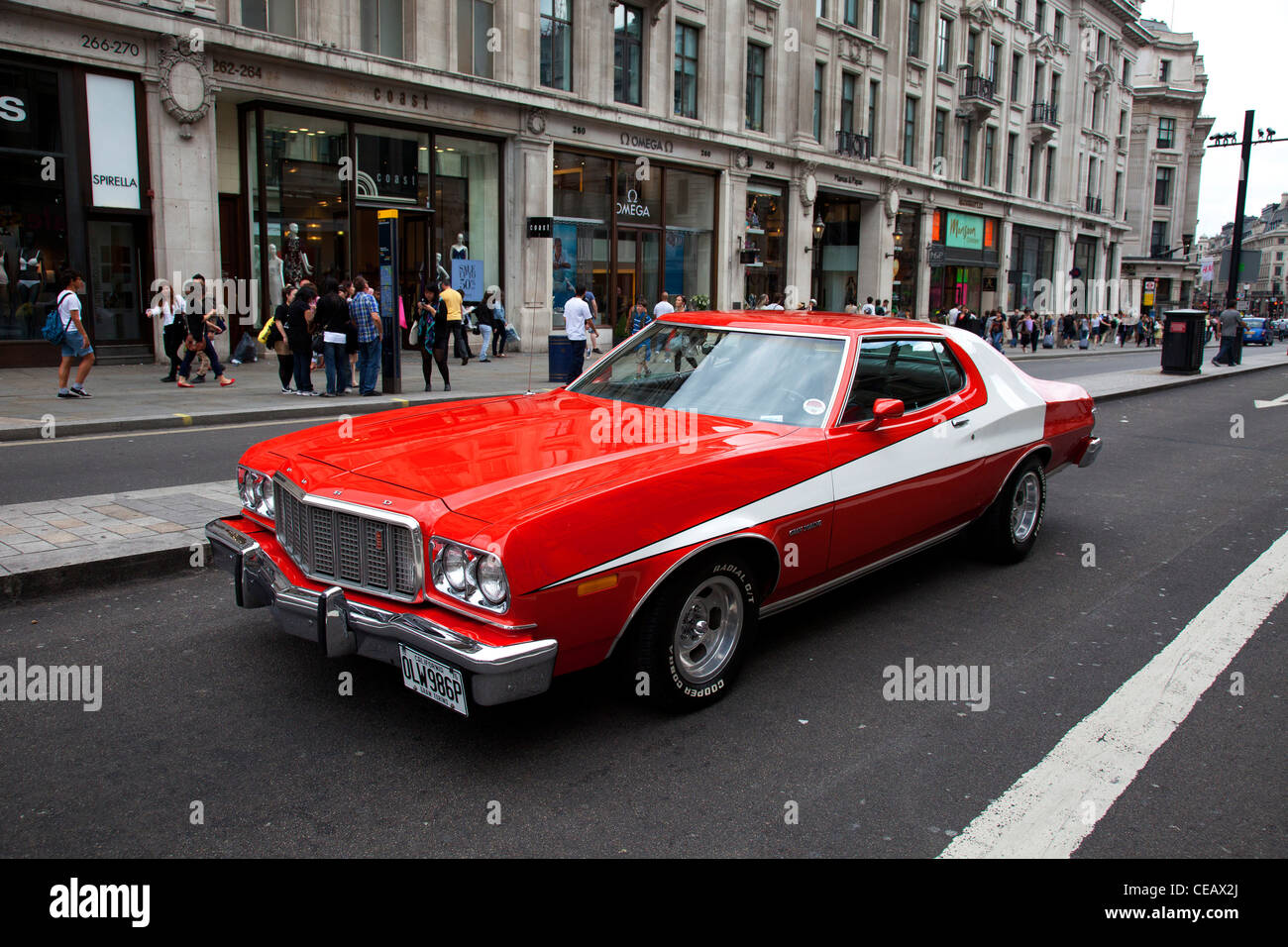 The famous red car used in the hit American movie and tv show ...