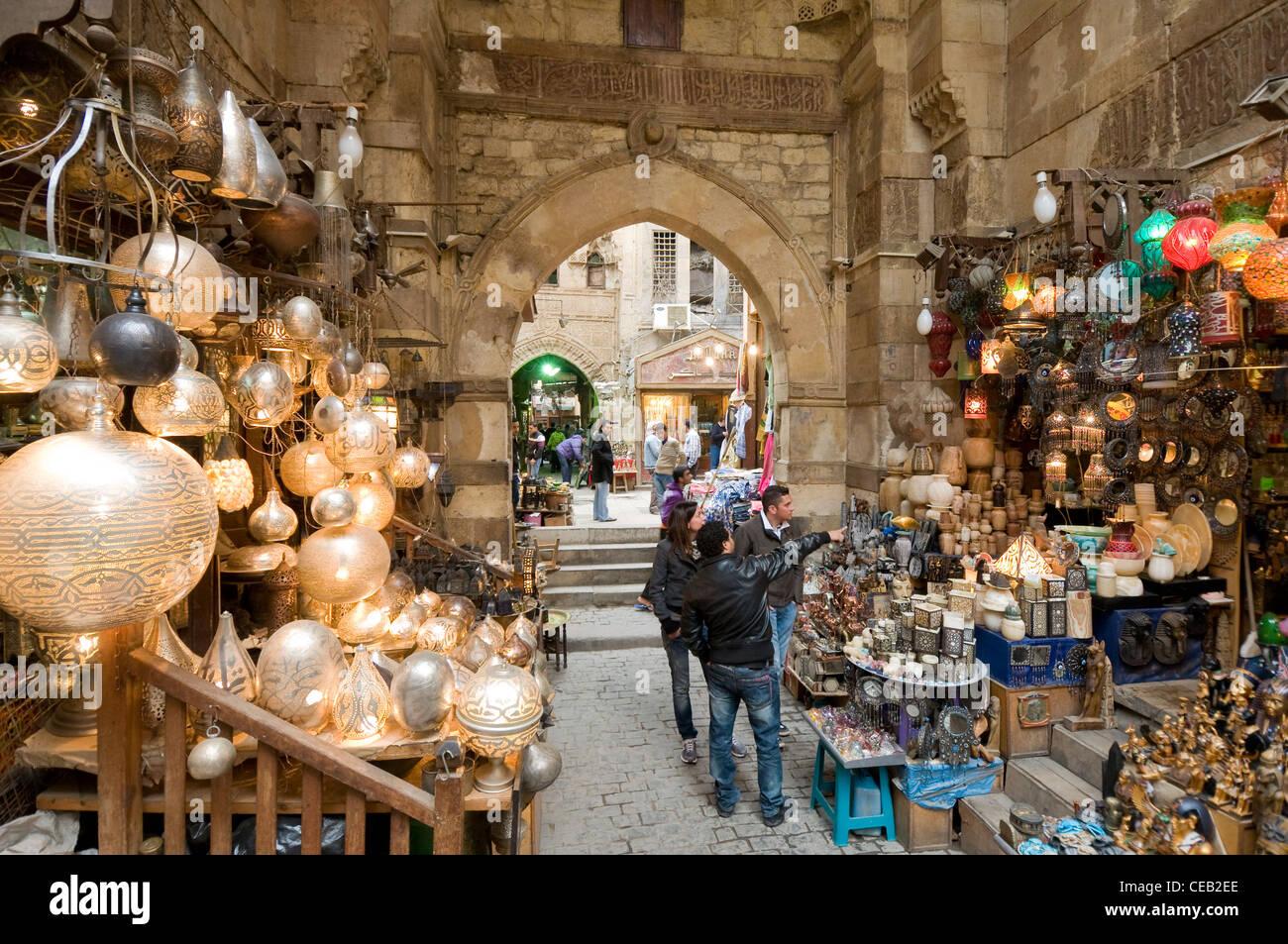 Khan El Khalili Market Cairo Egypt Stock Photo Royalty