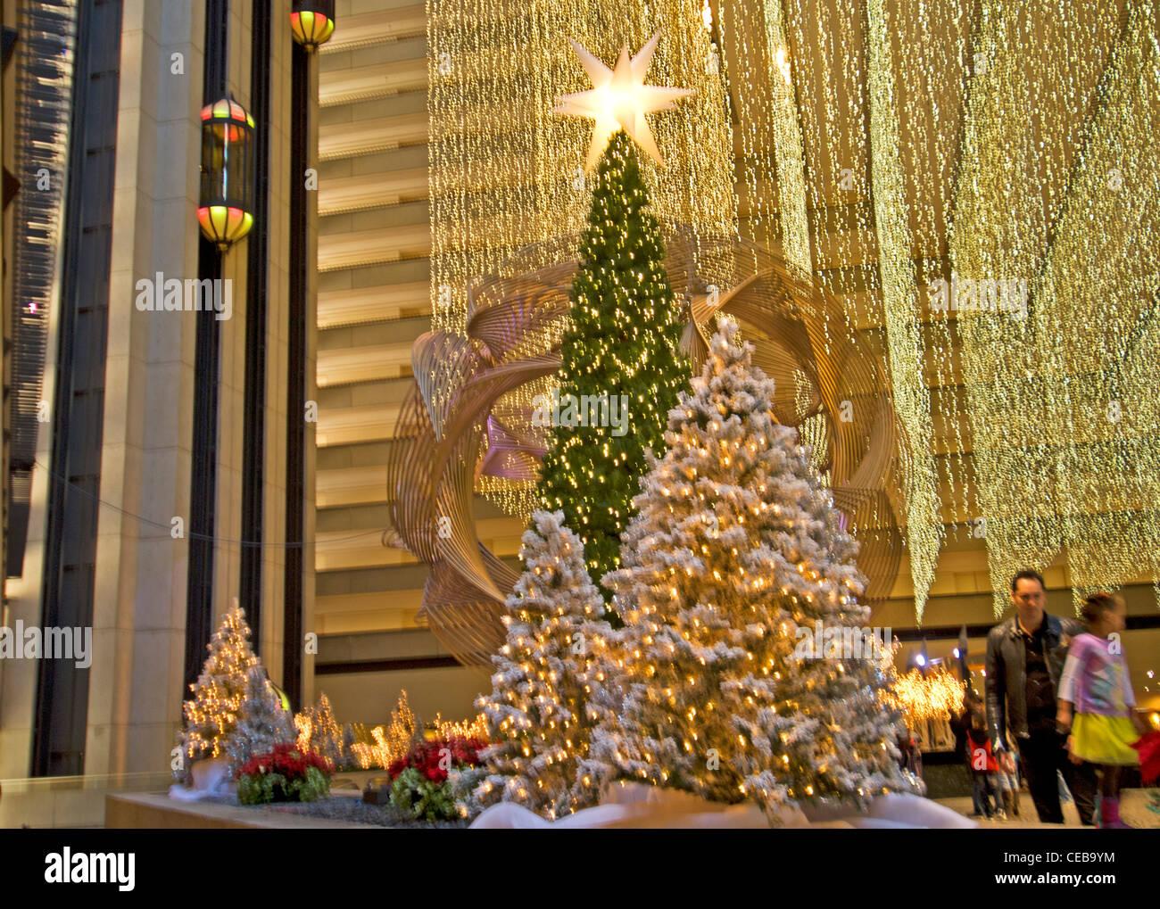 Christmas trees in the lobby of the Hyatt Regency Hotel San Francisco California & Christmas trees in the lobby of the Hyatt Regency Hotel San Stock ... azcodes.com