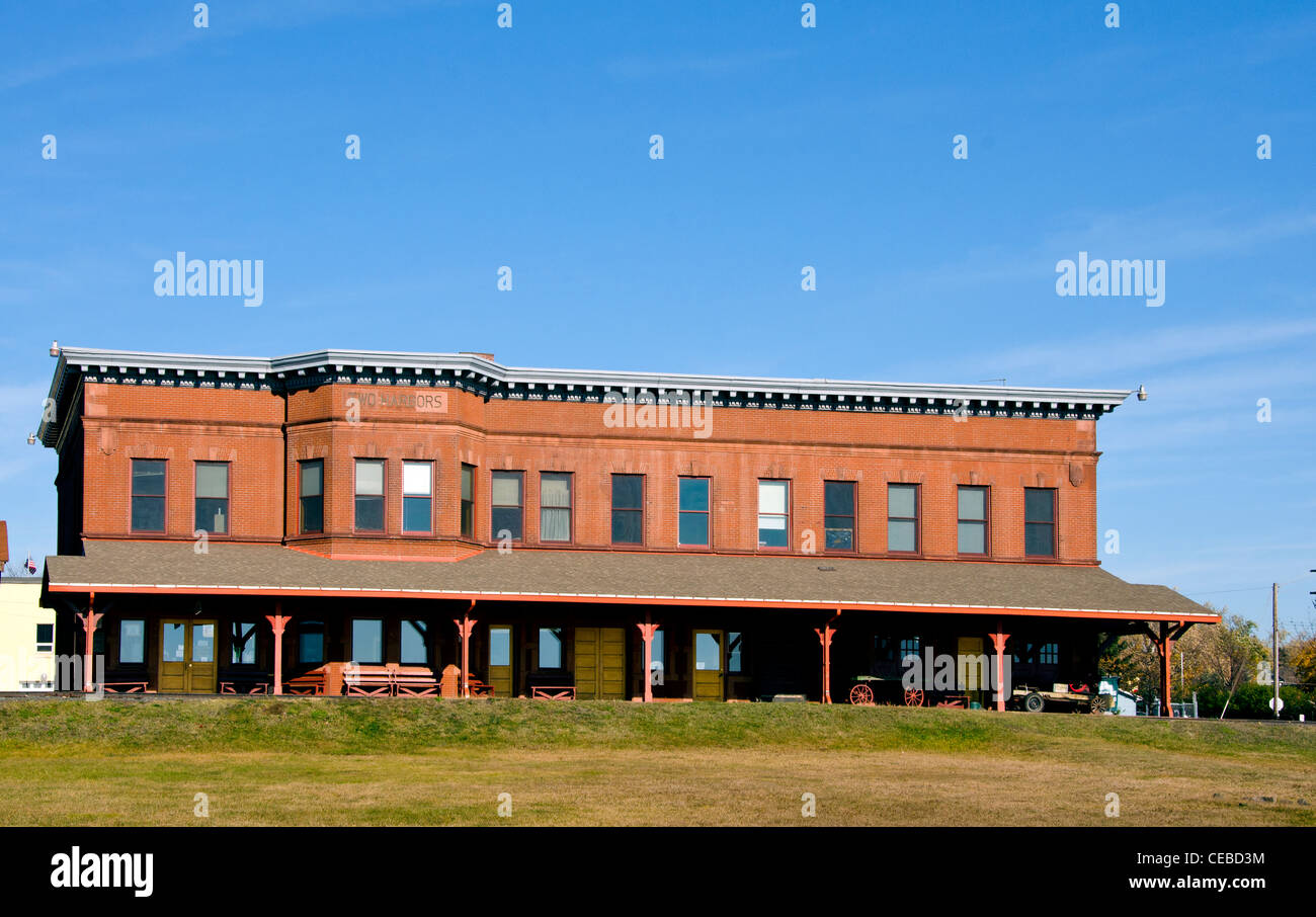 depot museum in the former duluth and iron range railroad depot in stock photo royalty free. Black Bedroom Furniture Sets. Home Design Ideas