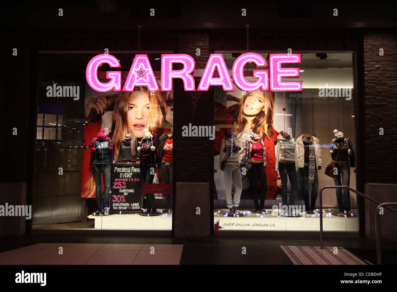 Garage clothing department store in toronto eaton center