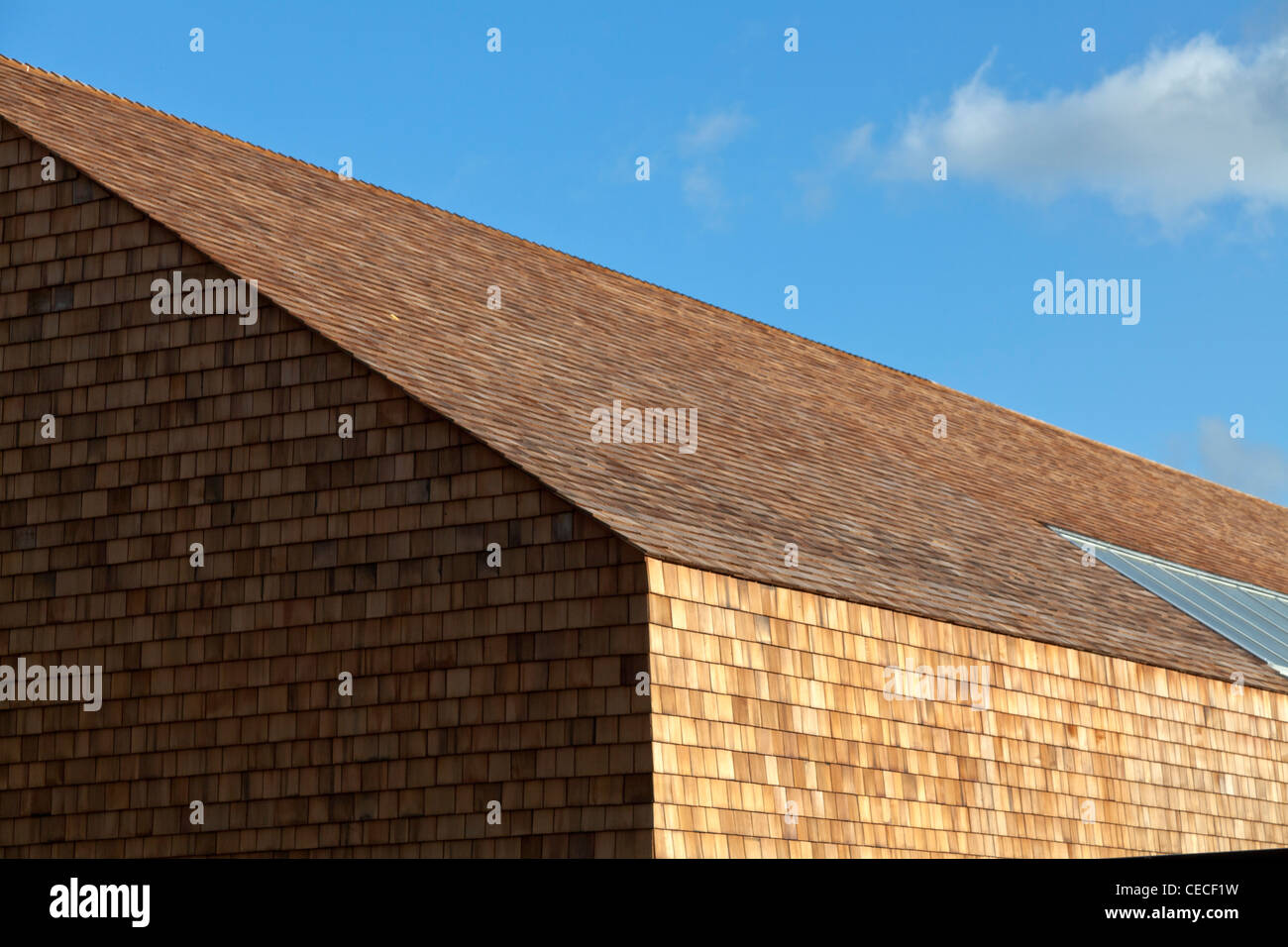 Shingle Wall And Roof Tiles On Activity Centre Building