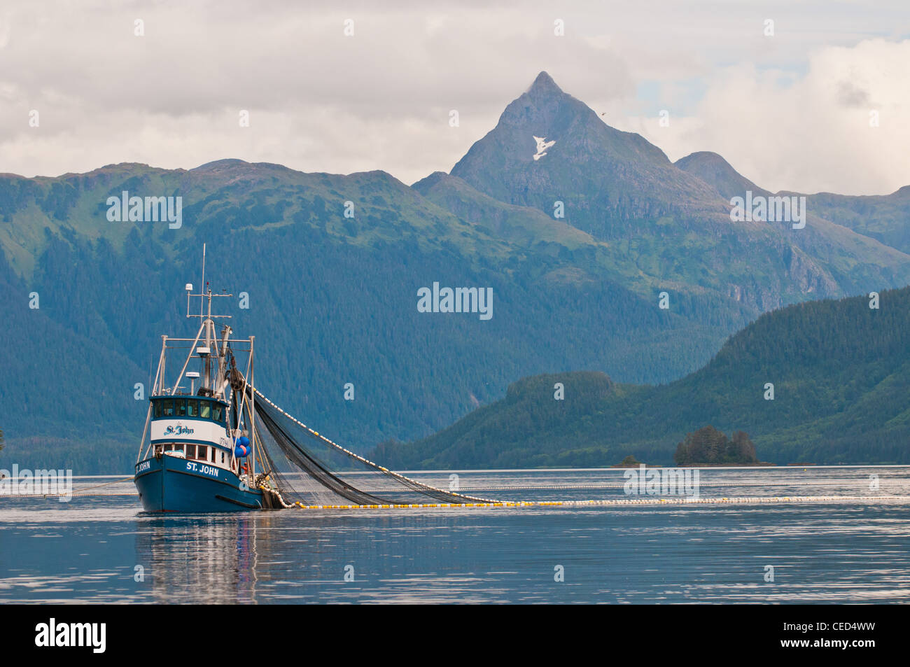 Purse seining salmon driverlayer search engine for Sitka alaska fishing