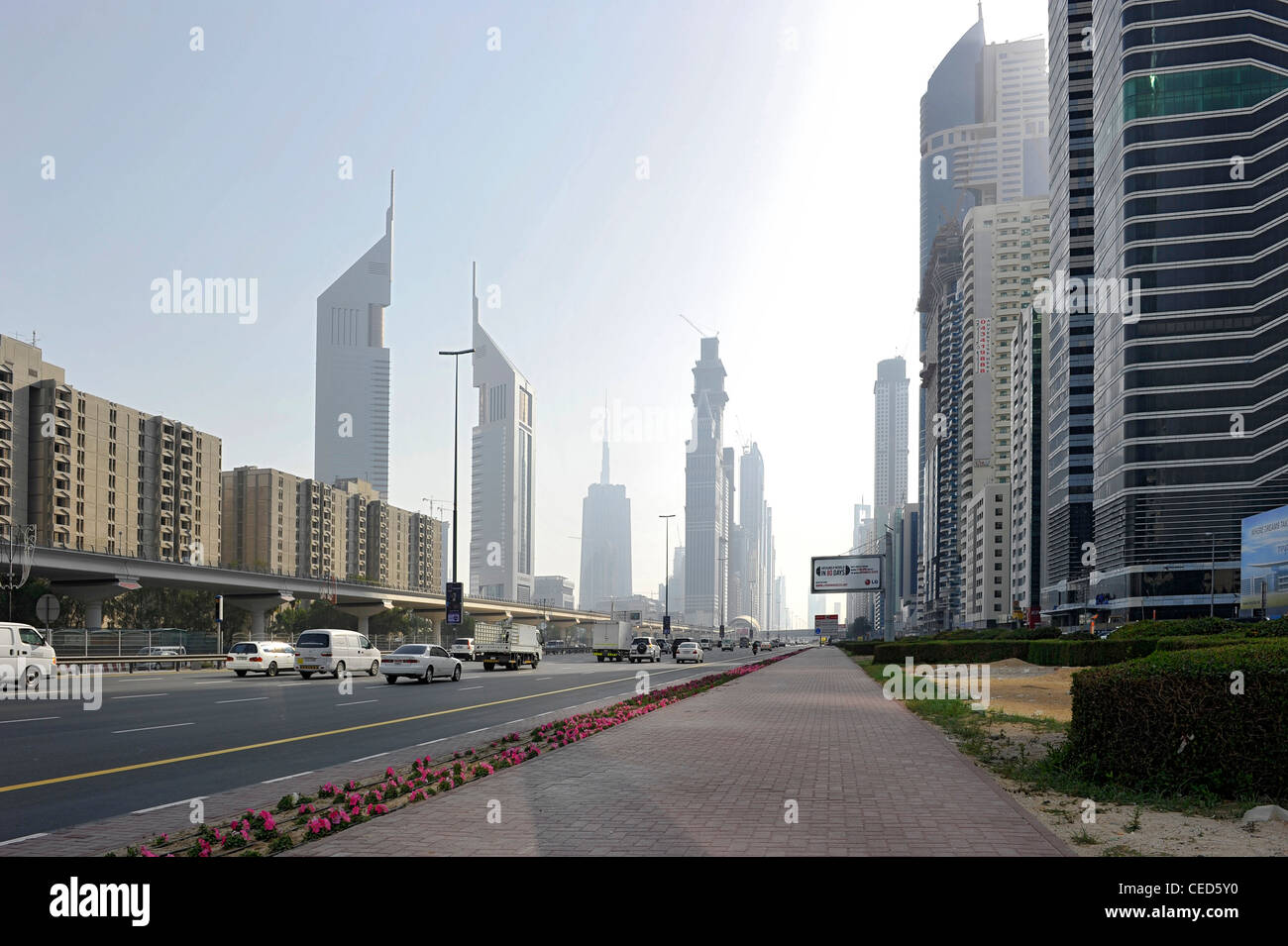 View Of Sheikh Zayed Road Towards Downtown Dubai Al Satwa