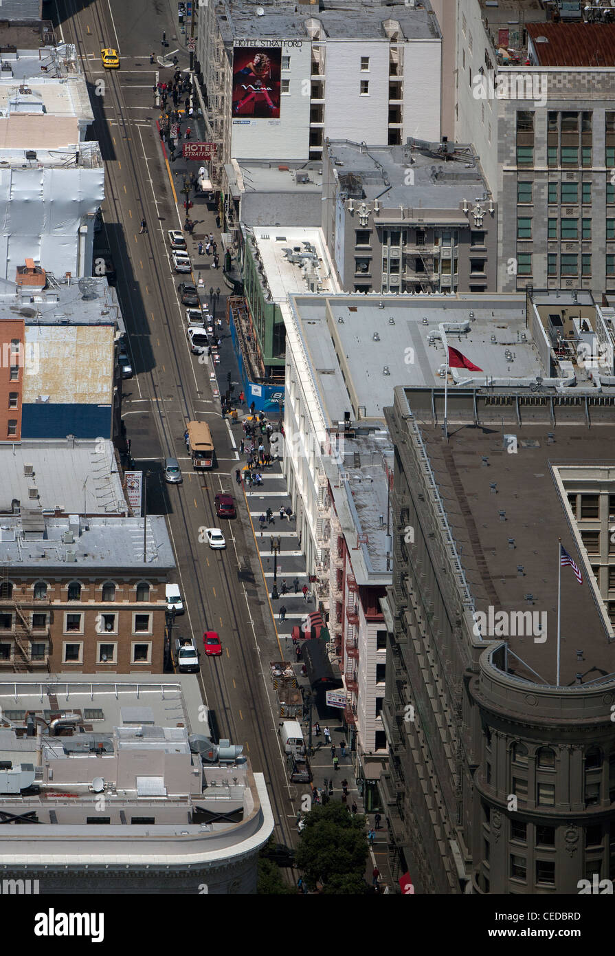 Aerial photograph powell street cable car line union for Western union san francisco ca