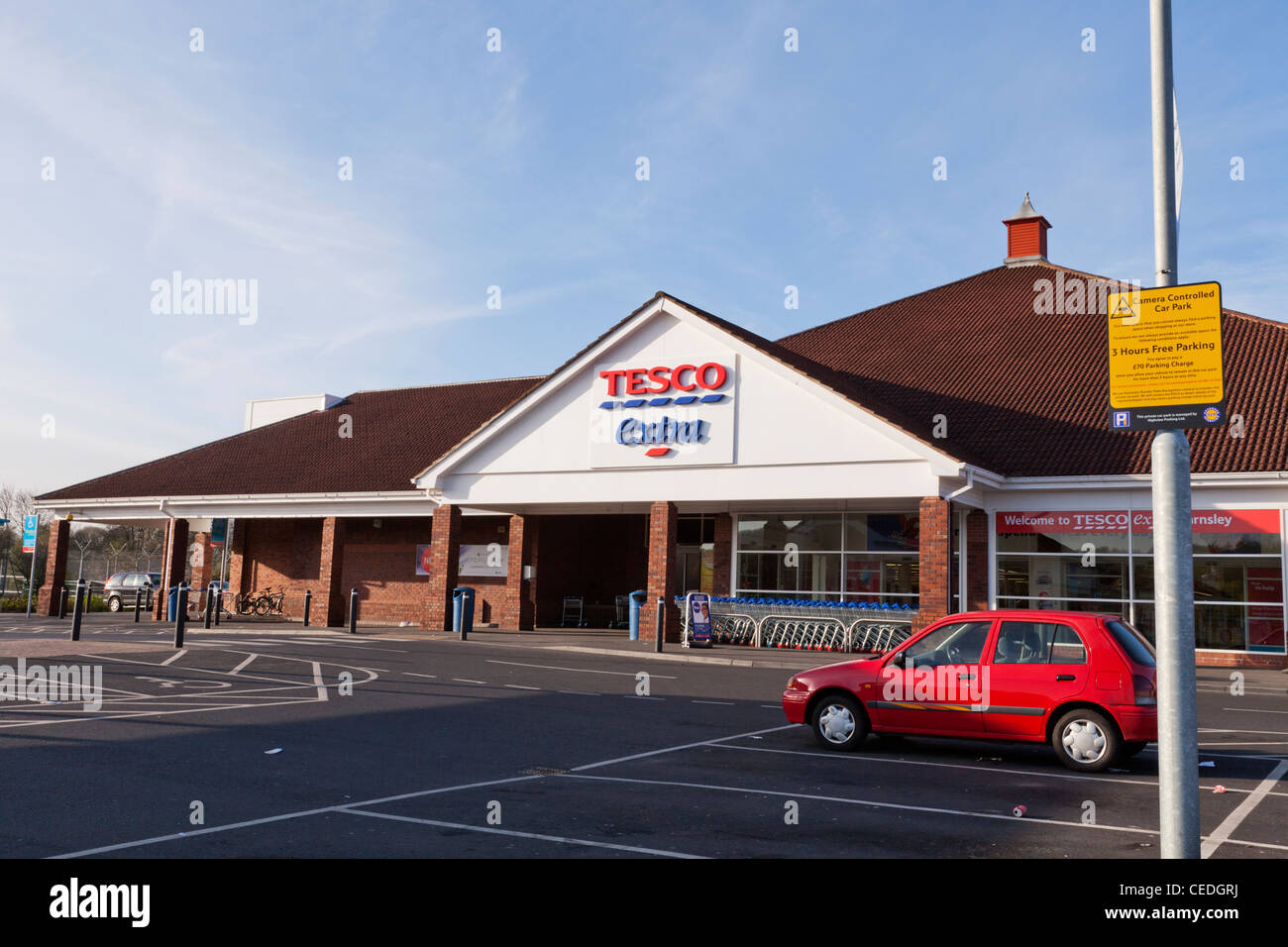 Tesco Extra At Stairfoot Barnsley South Yorkshire Stock