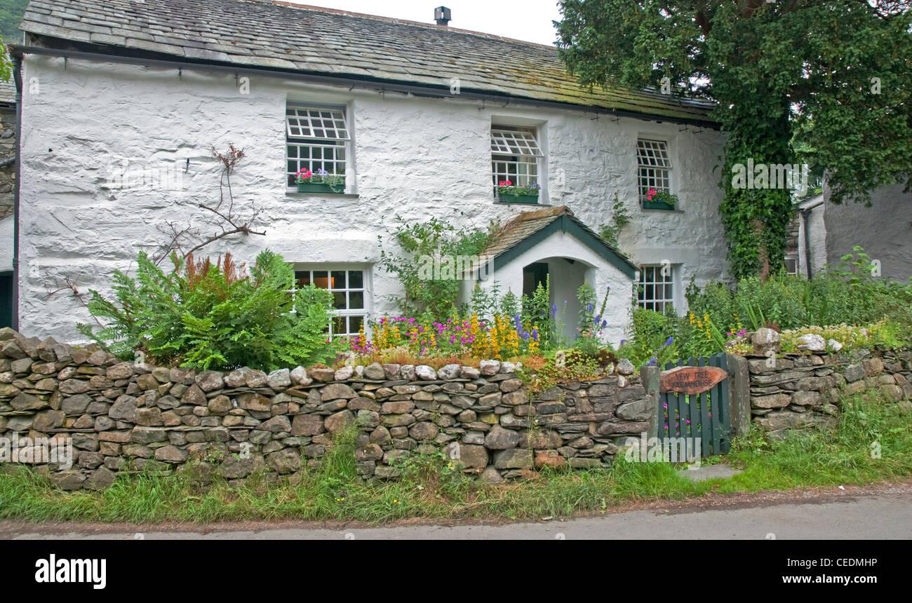A typical Lakeland cottage in village of Stonethwaite, Keswick ...