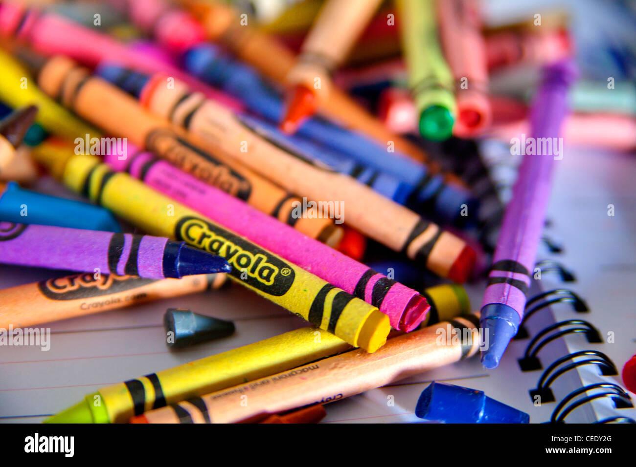 colorful crayola crayons