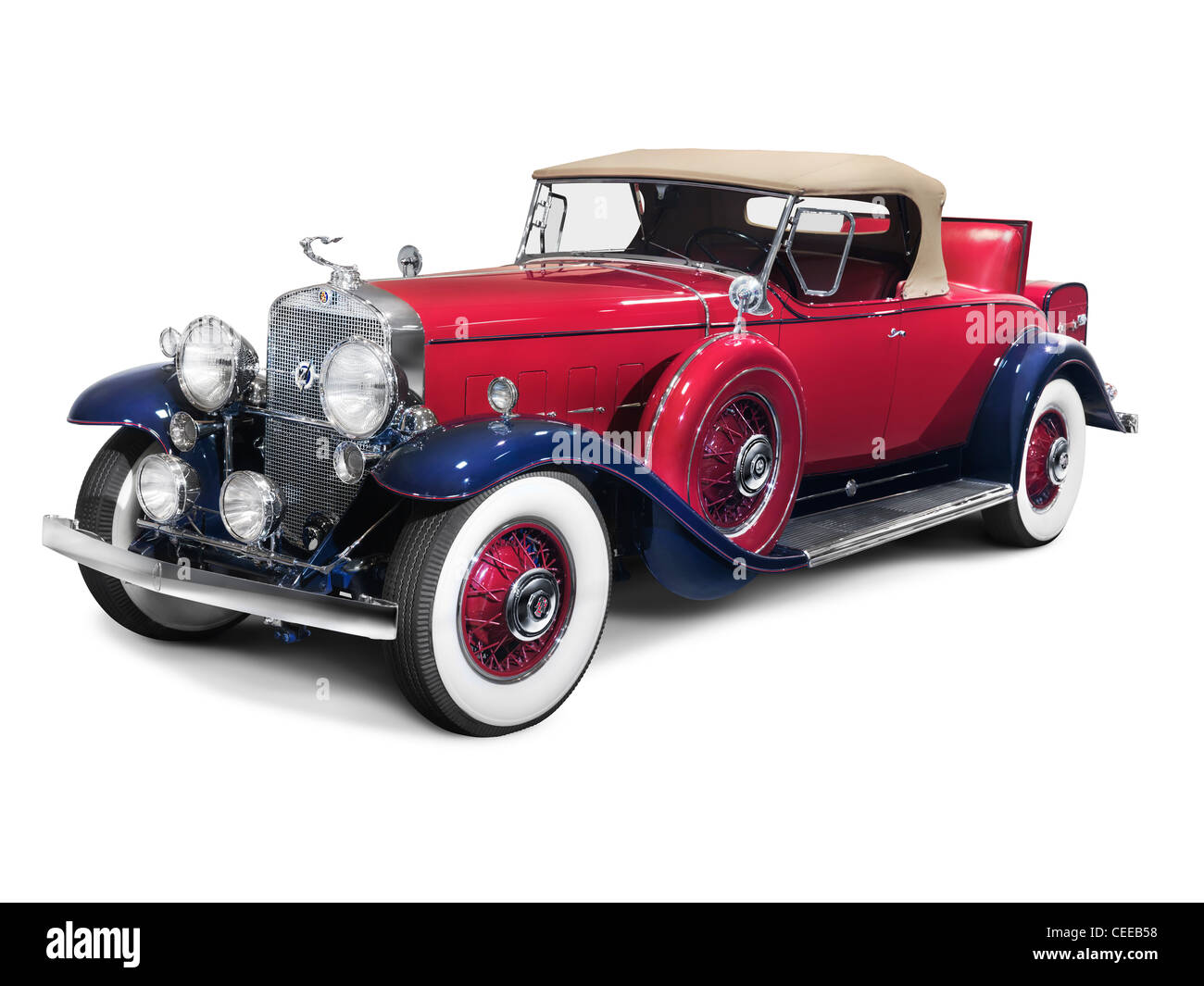 Classic American Car White Background Stock Photos Classic