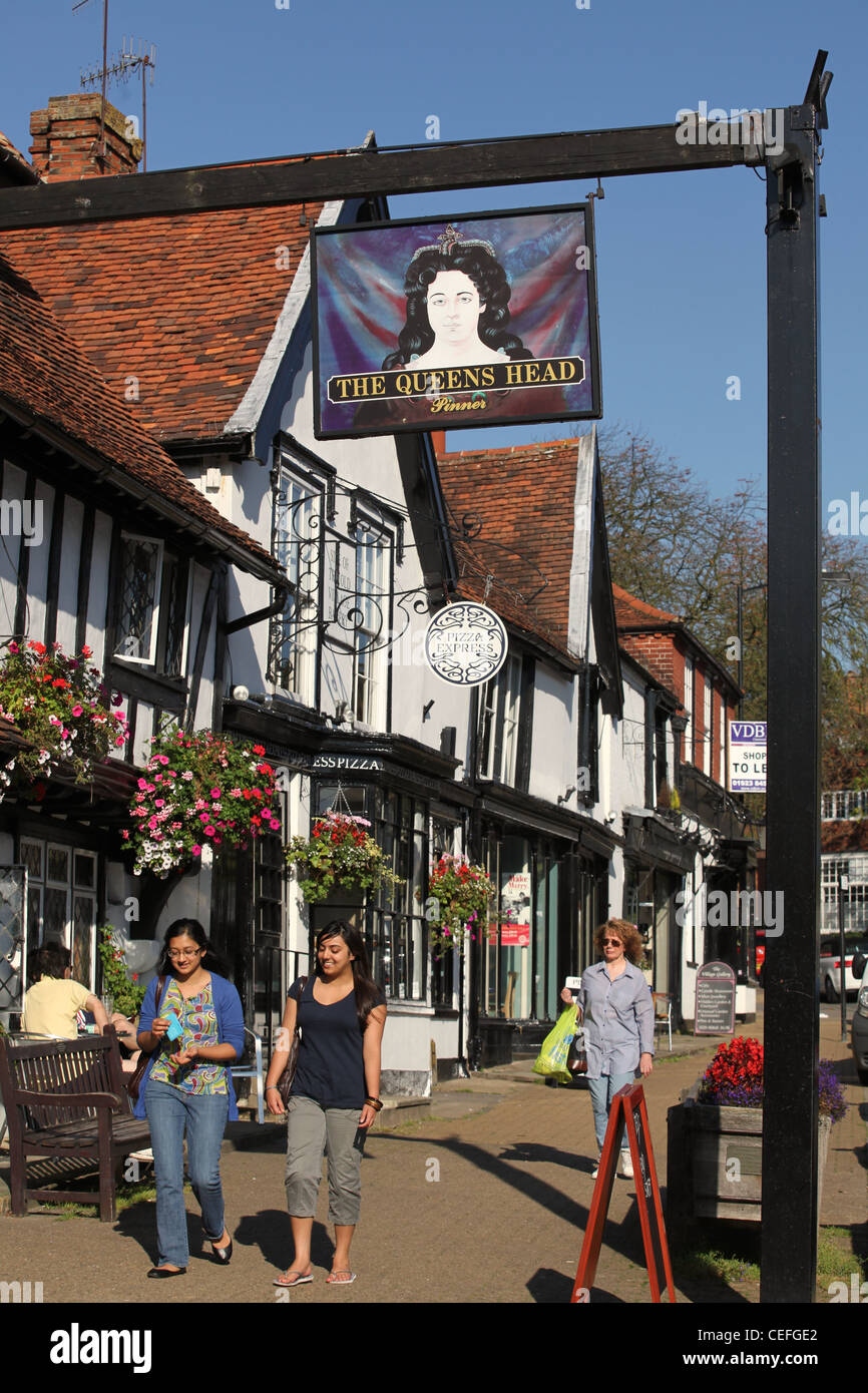 Another Pinner Got Me Nails Diddd I Love The Solid: A View Of The Queens Head Pub And Pinner High Street