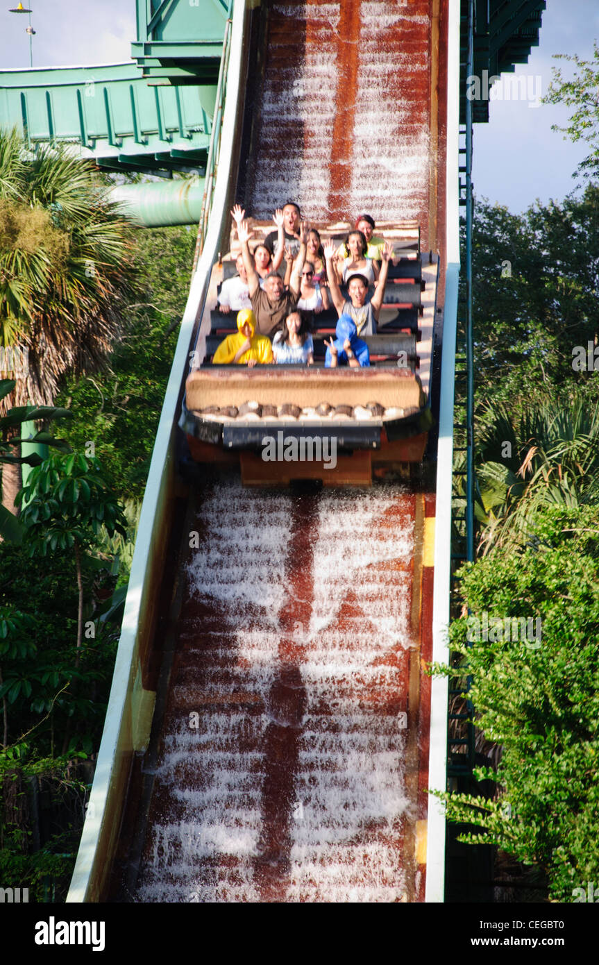 Busch gardens tampa florida tanganyika tidal wave water raft ride stock photo 43386448 alamy for Busch gardens tampa water rides
