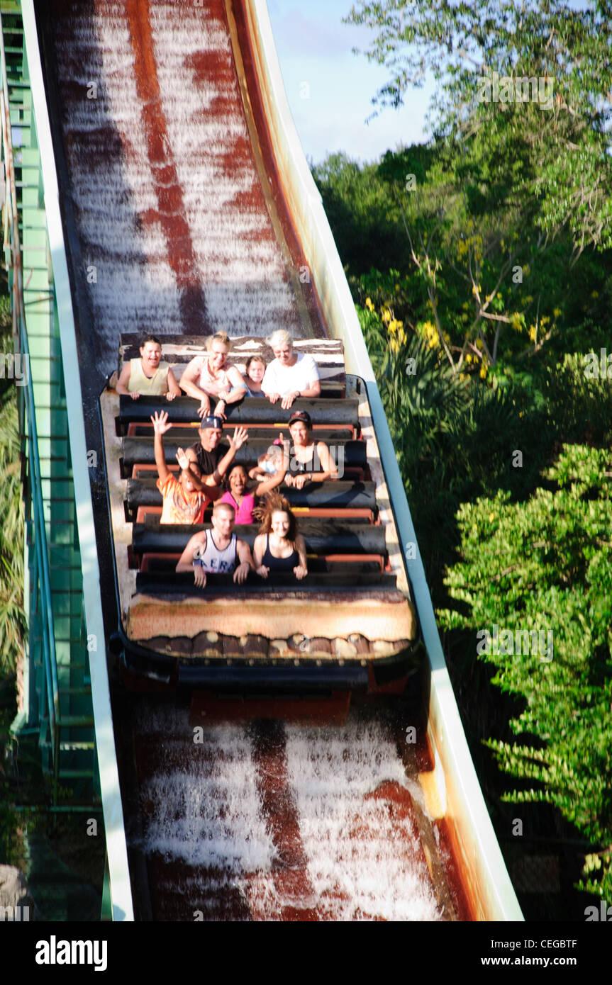 Busch Gardens Tampa Florida Tanganyika Tidal Wave Water Raft Ride