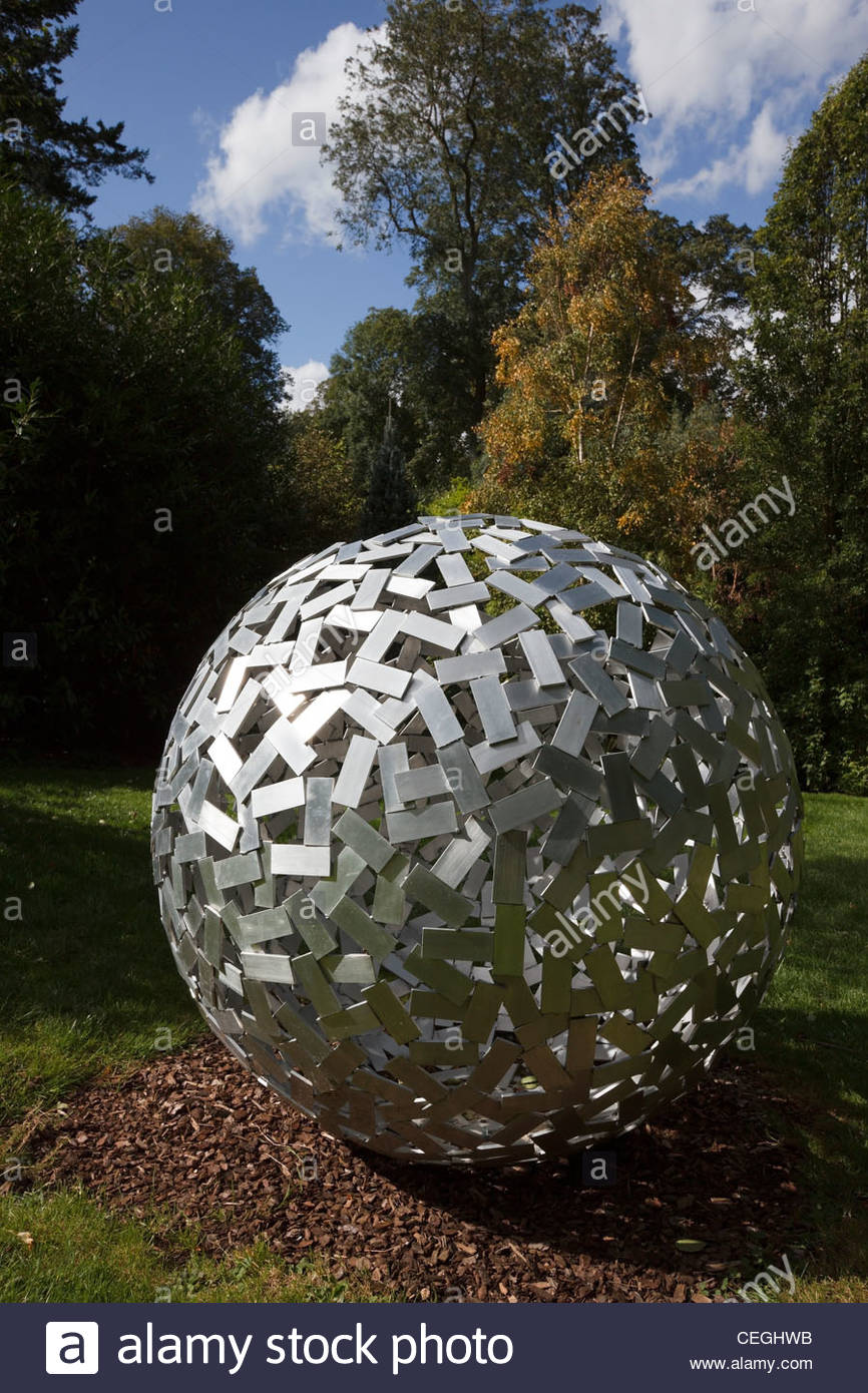 Sculptural Spheres Crazy Wonderful: Modern Art Aluminium Sphere Sculpture In The Sculpture